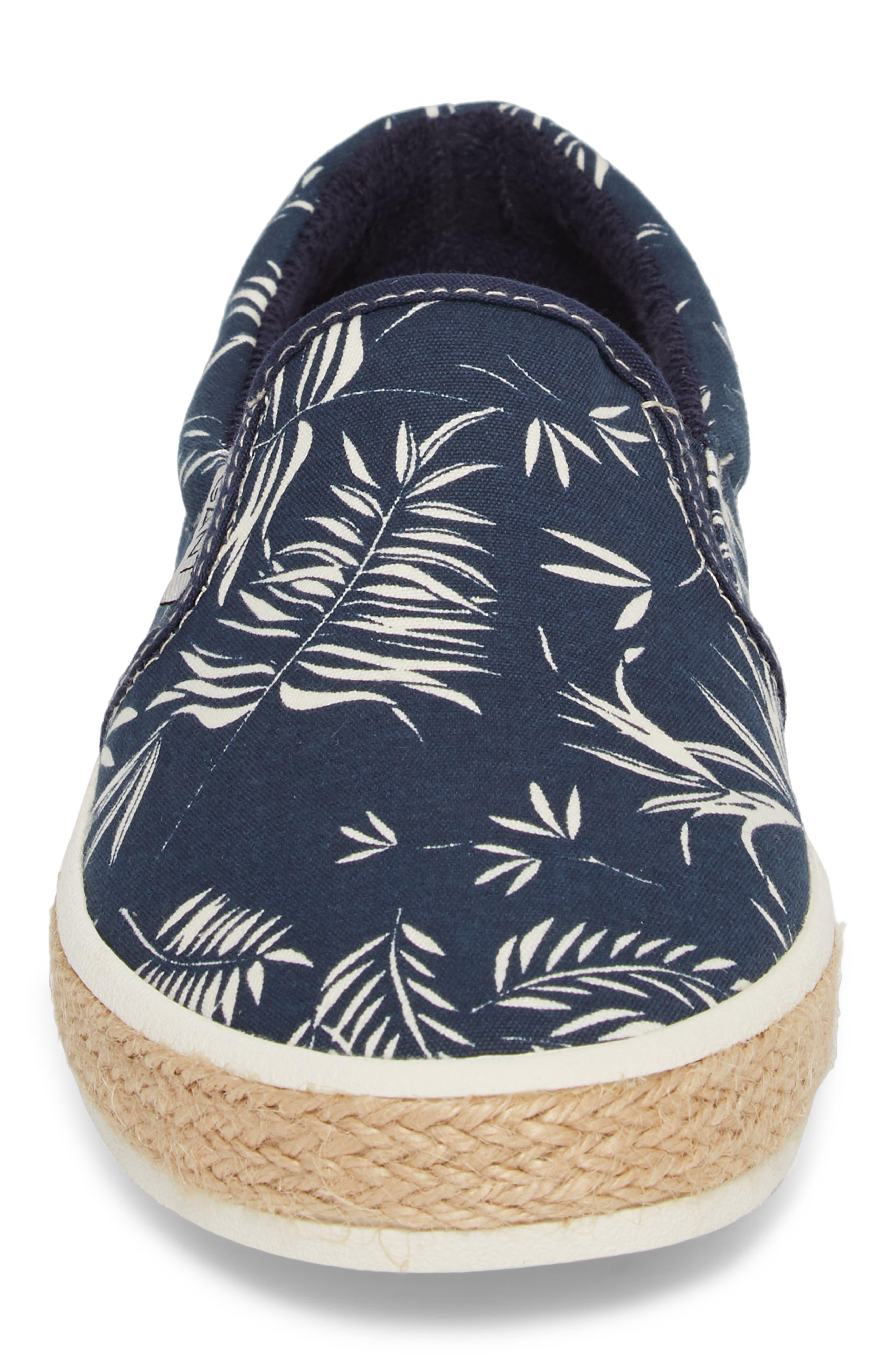 Master Espadrille Slip-On Sneaker,                             Alternate thumbnail 4, color,                             MULTI BLUE