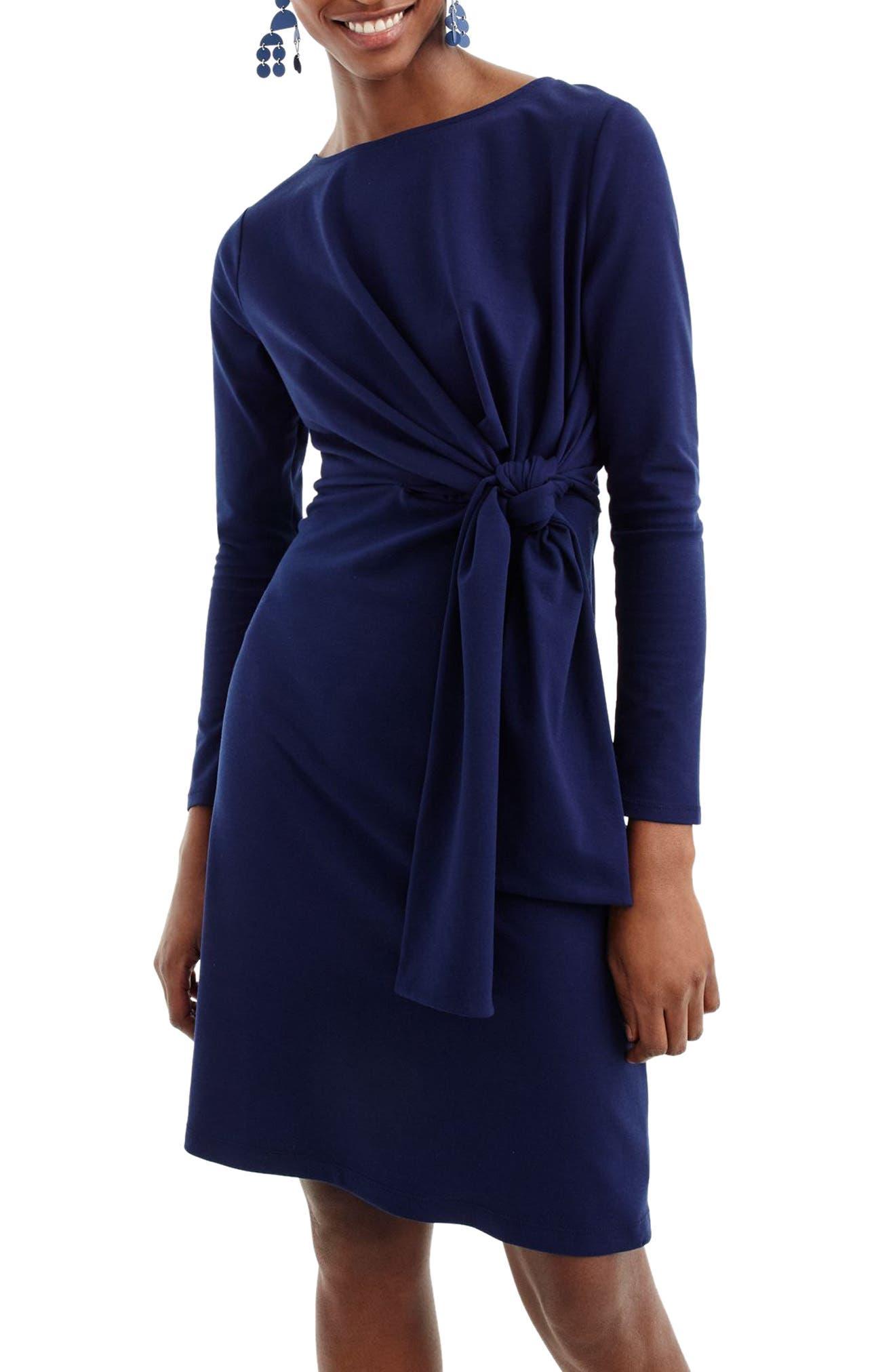 Drapey Tie Waist Dress,                             Alternate thumbnail 3, color,