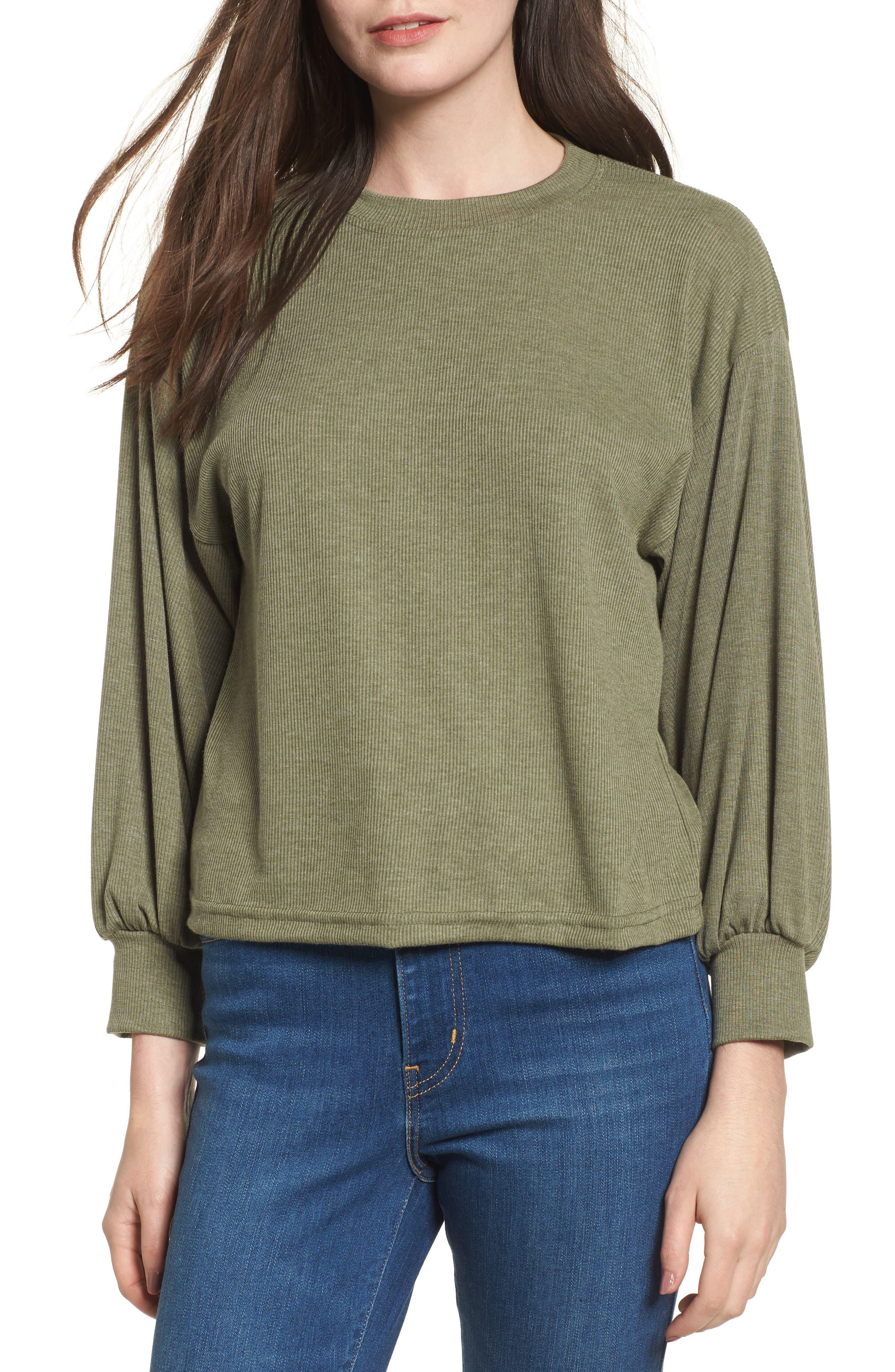 Balloon Sleeve Sweater,                         Main,                         color, 341