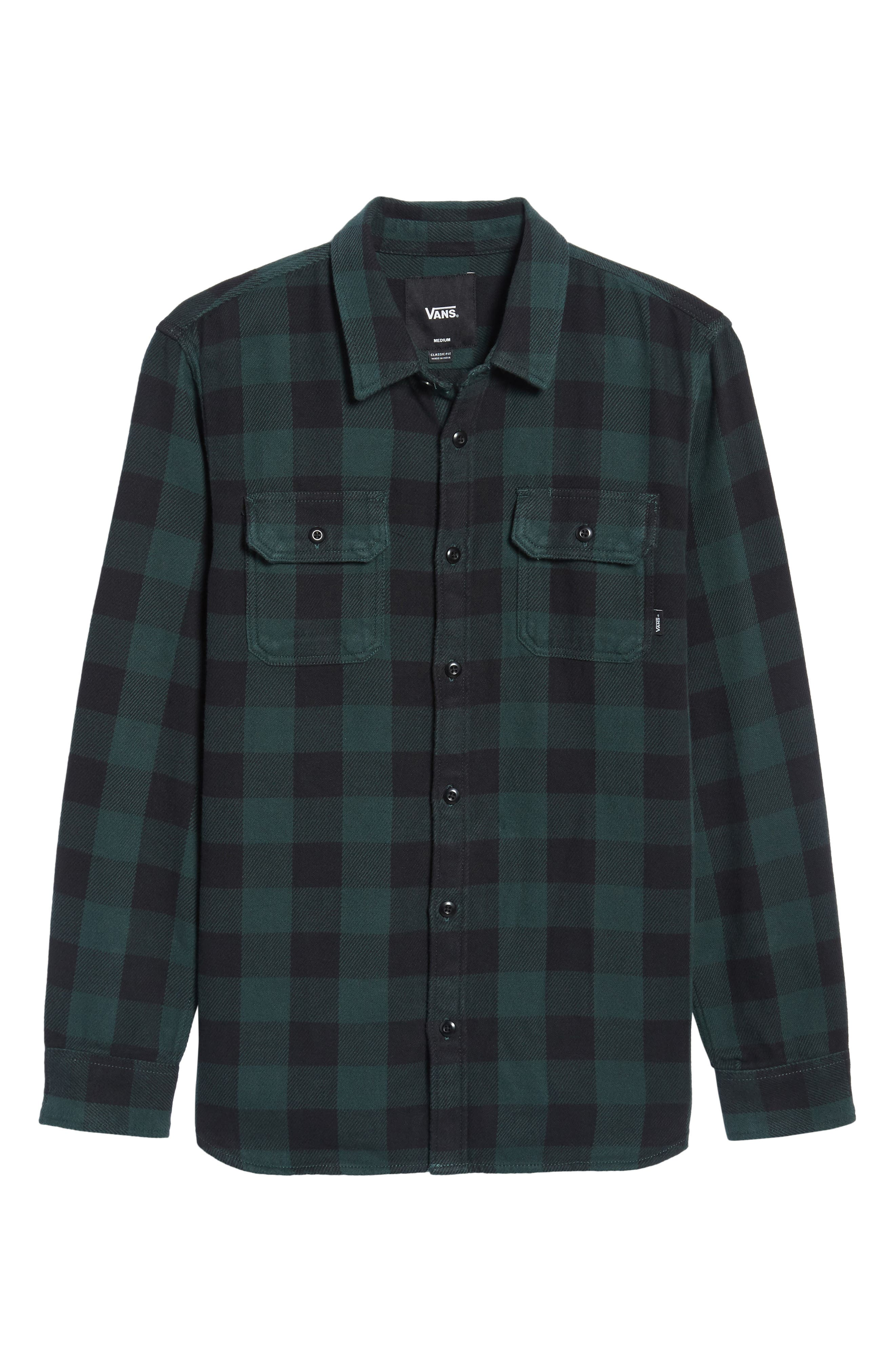 Wisner Plaid Shirt,                             Alternate thumbnail 6, color,                             001