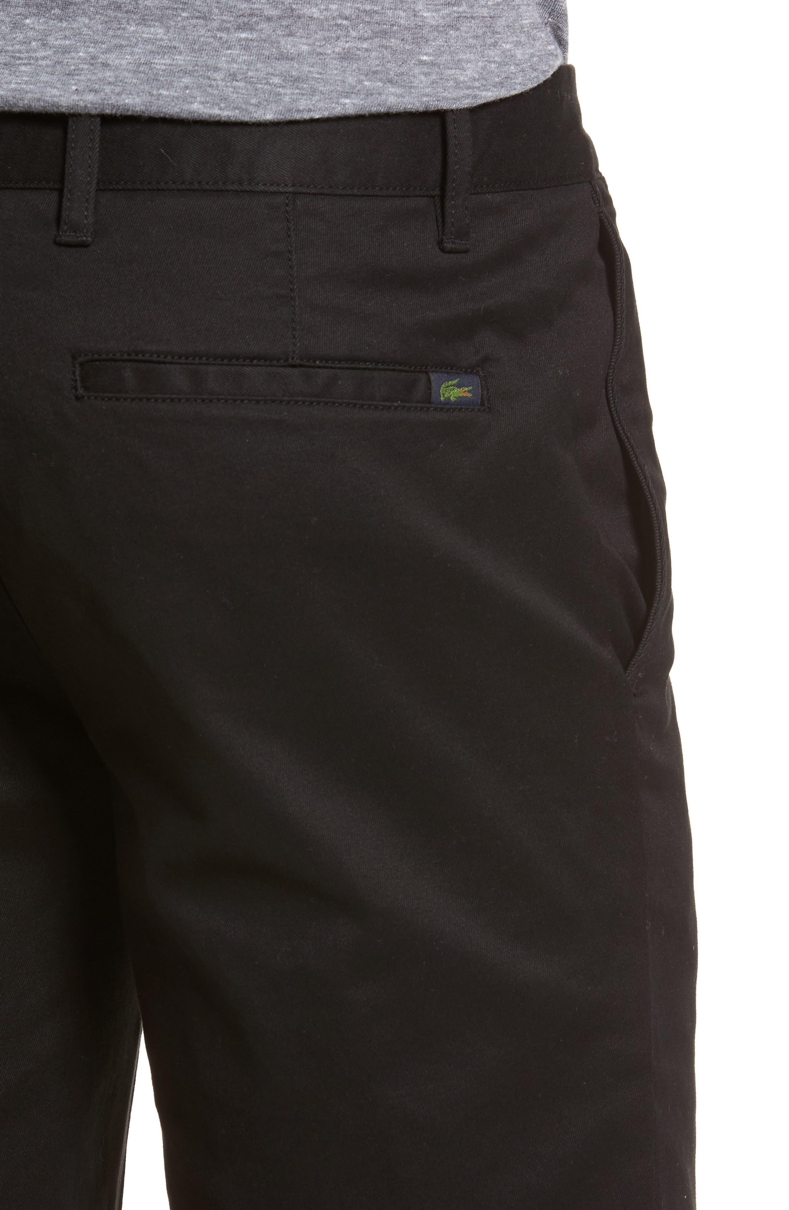 Slim Fit Chino Shorts,                             Alternate thumbnail 4, color,                             001