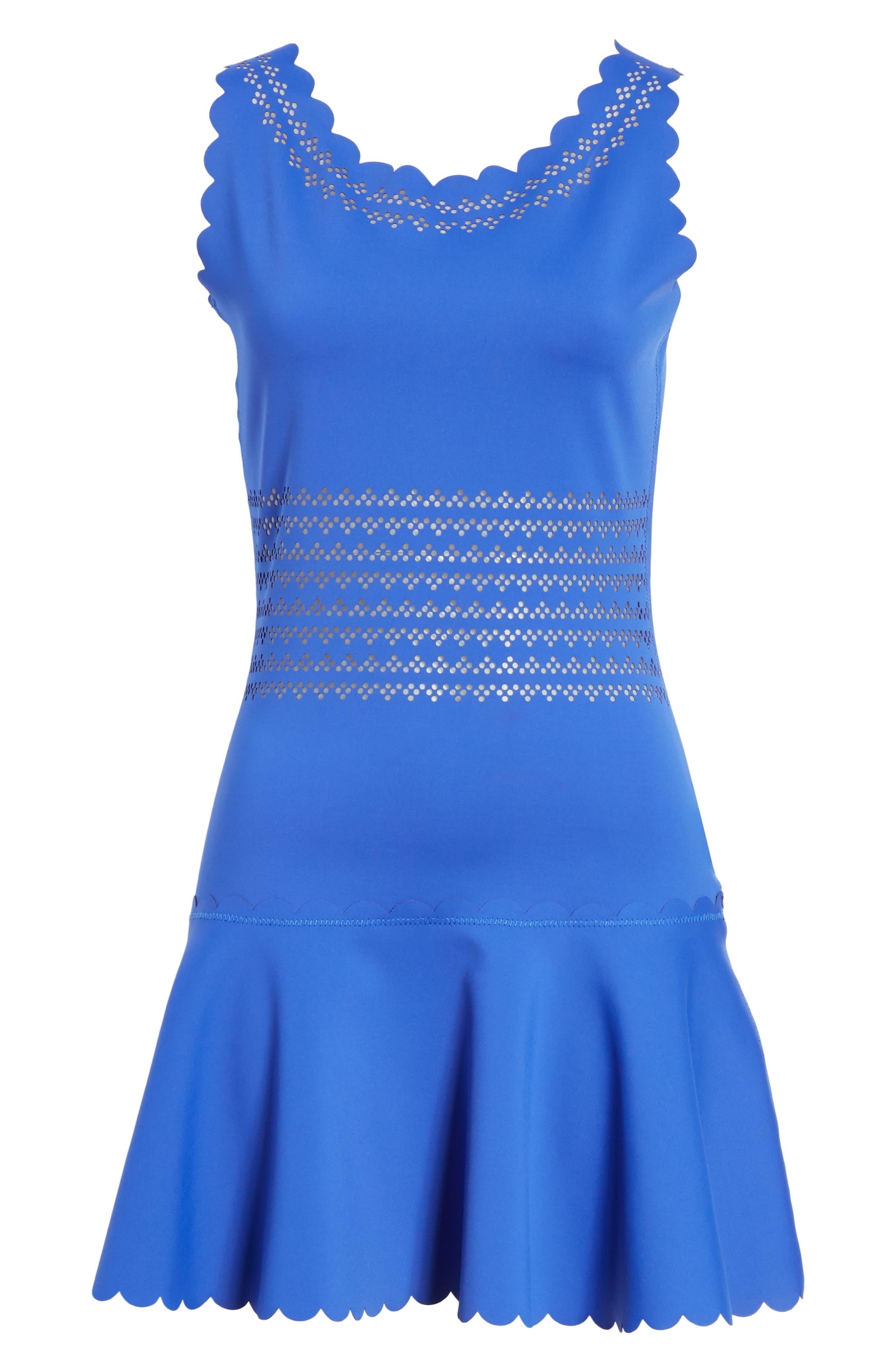 Center Court Tennis Dress,                             Alternate thumbnail 8, color,                             BLUE