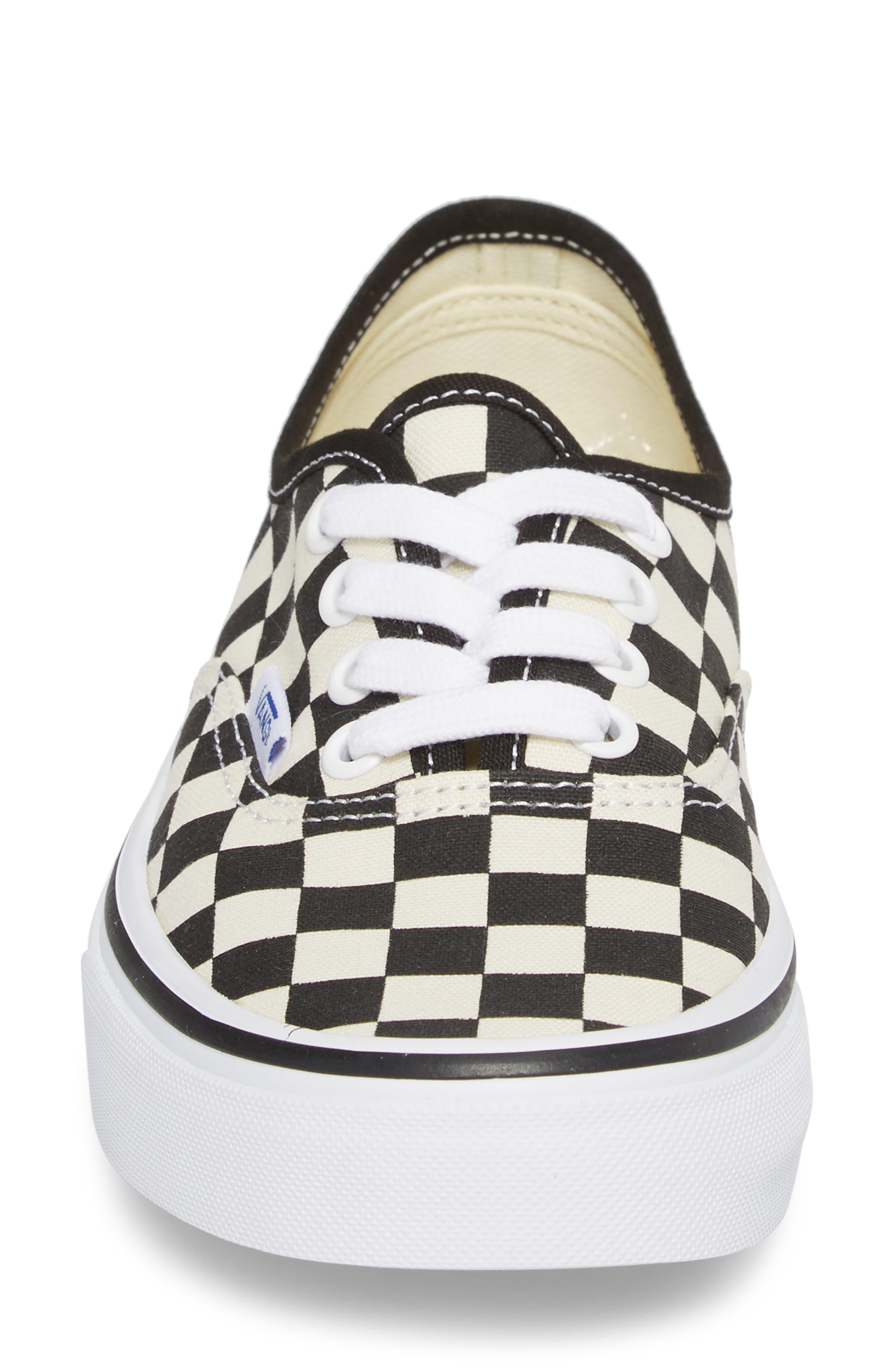 'Authentic' Sneaker,                             Alternate thumbnail 4, color,                             BLACK/ WHITE CHECKER