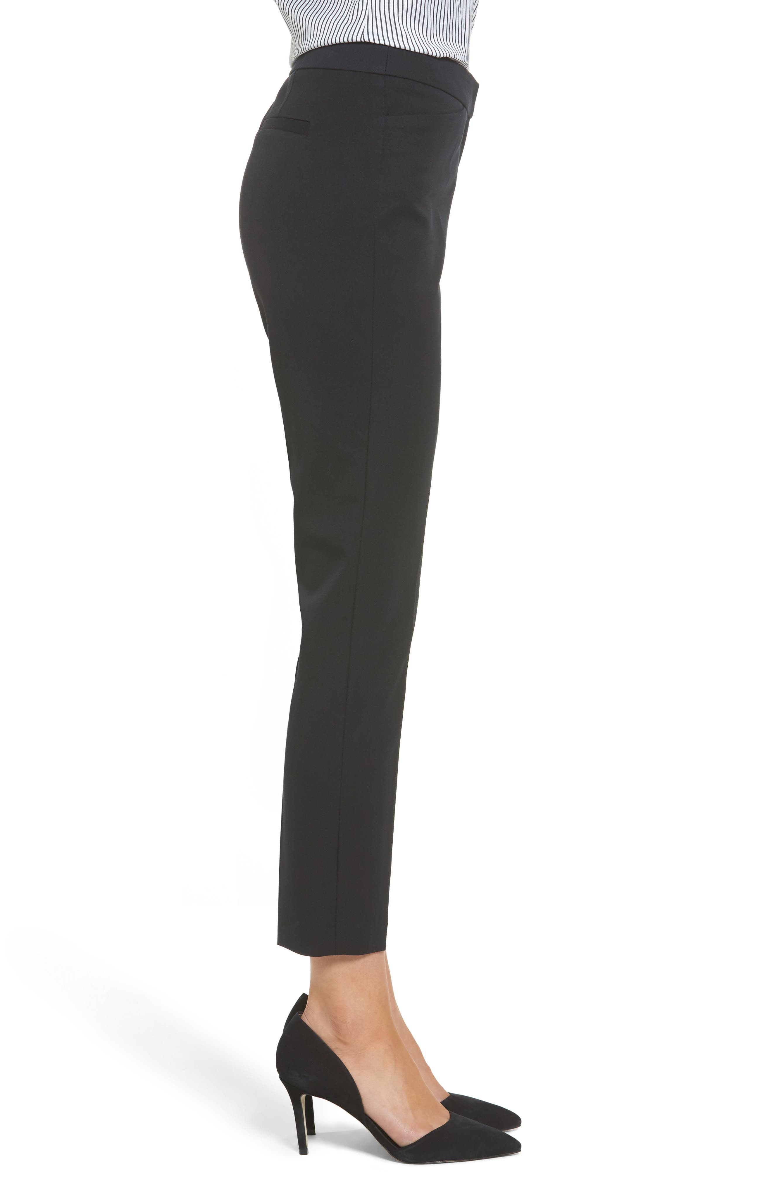 Ankle Pants,                             Alternate thumbnail 3, color,                             BLACK