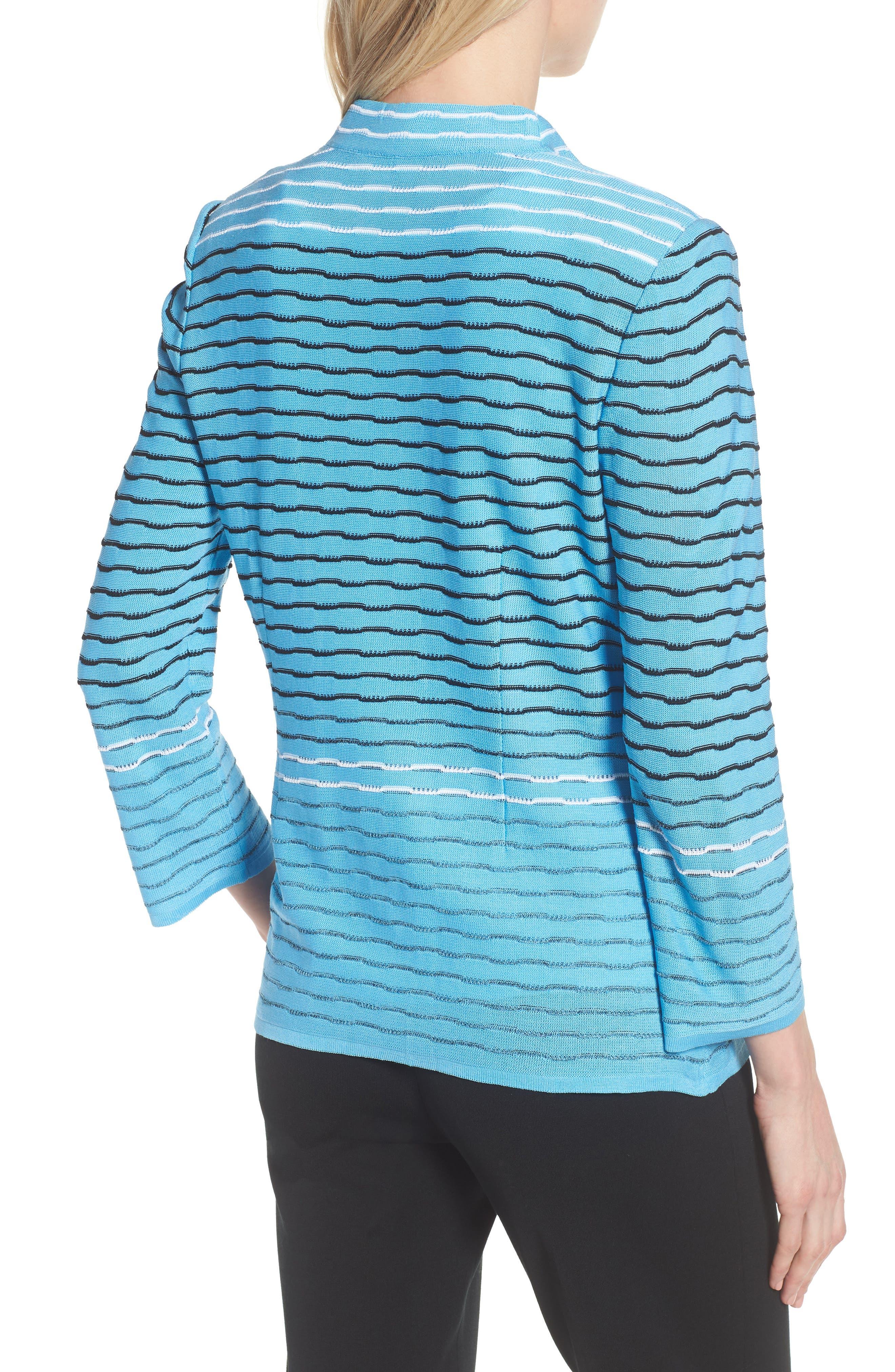 Jacquard Knit Jacket,                             Alternate thumbnail 2, color,                             BLUEBONNET/ BLACK/ WHITE