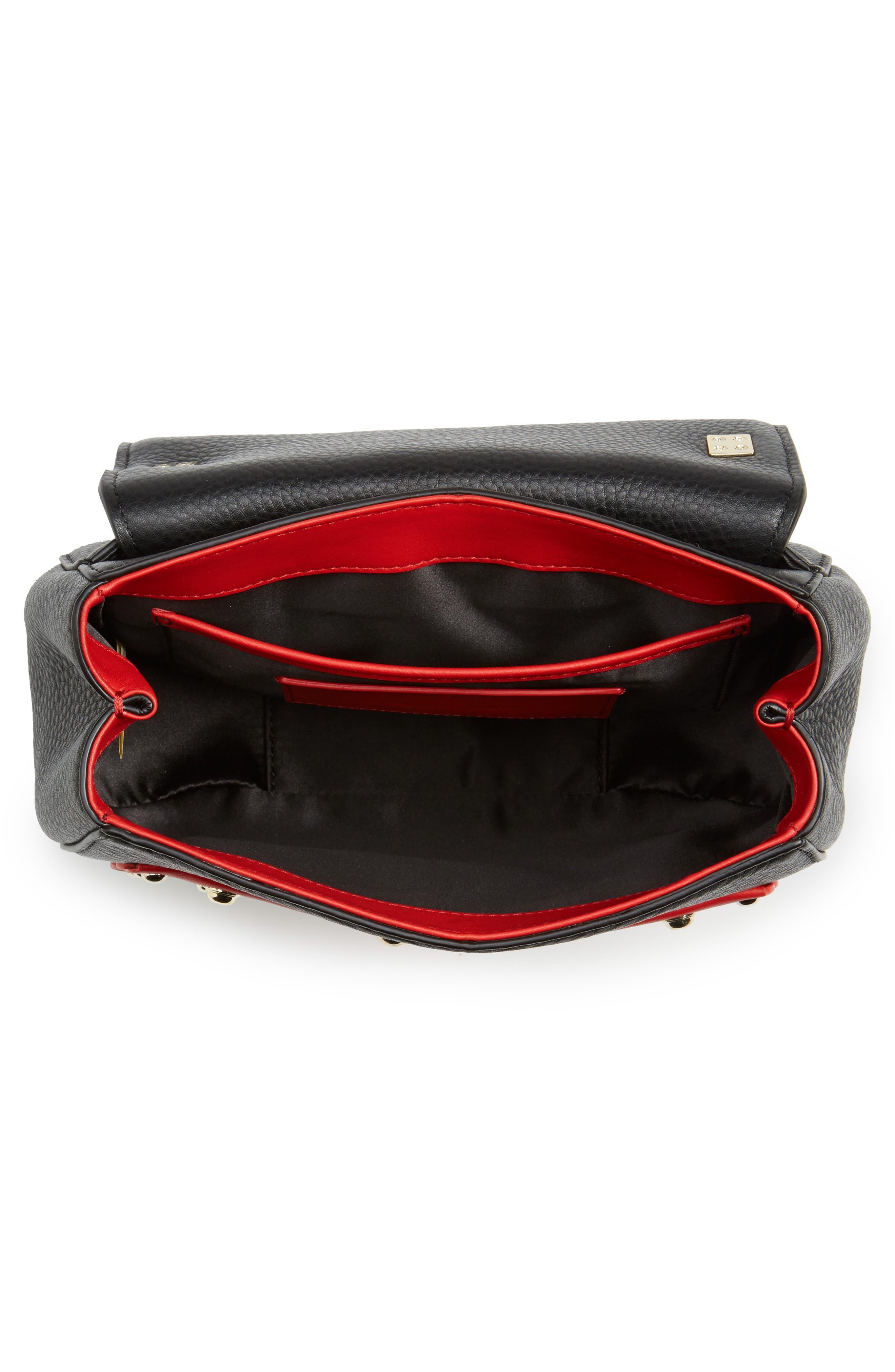 madison stewart street - byrdie studded leather satchel,                             Alternate thumbnail 4, color,                             631