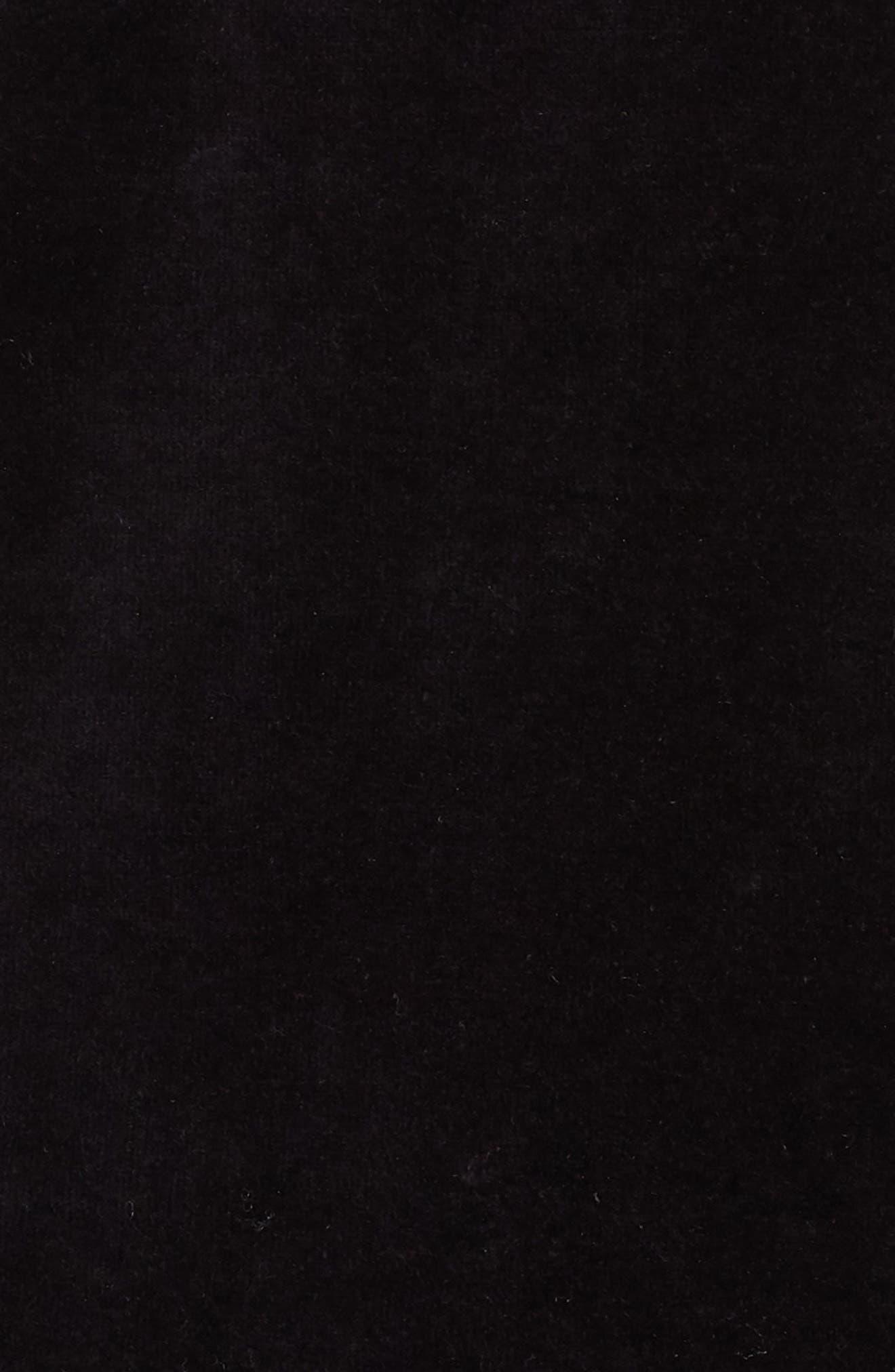 Velour Crewneck Sweater,                             Alternate thumbnail 6, color,                             BLACK/ CRIMSON