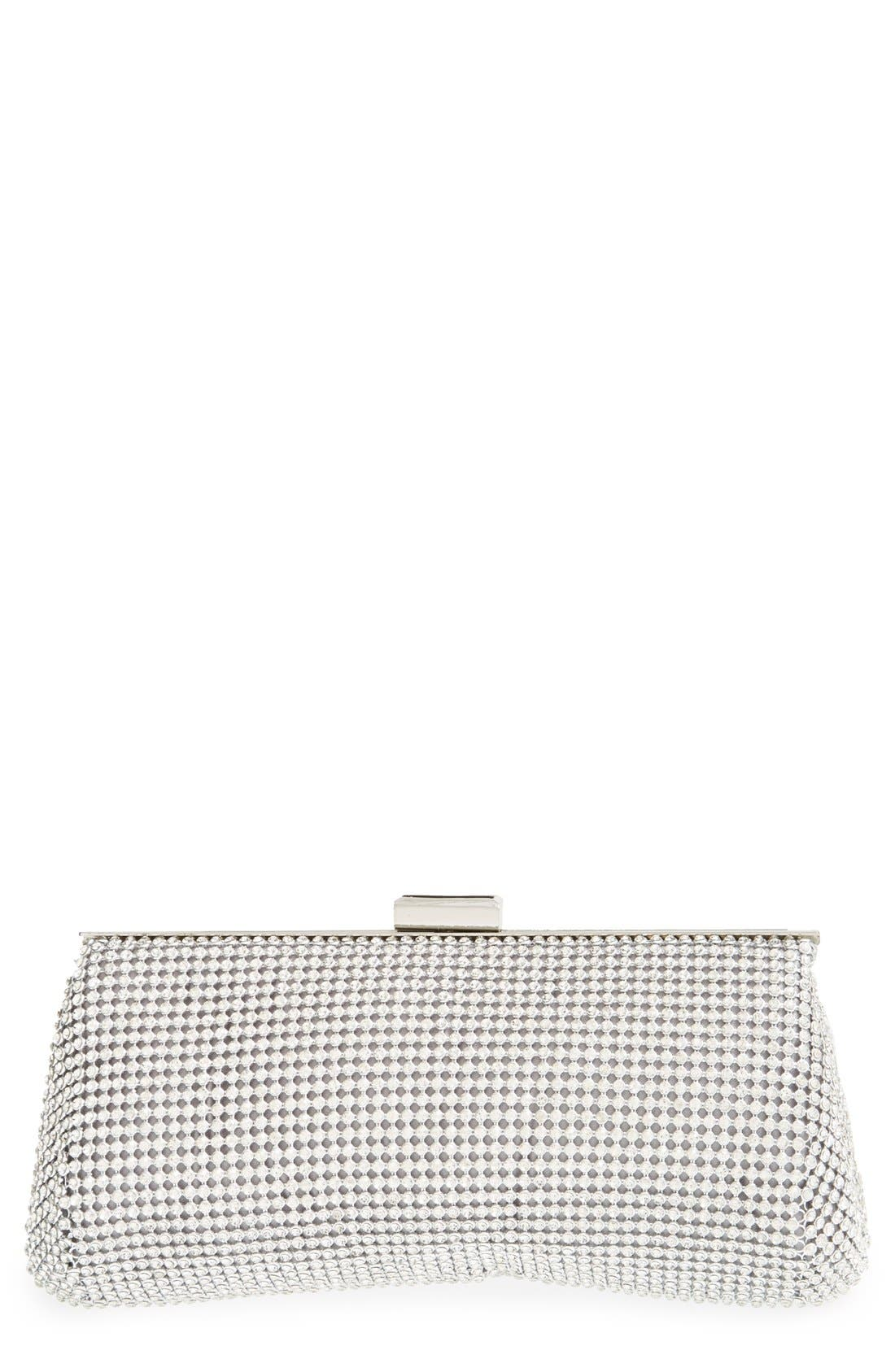 Crystal Mesh Clutch,                             Main thumbnail 1, color,                             040