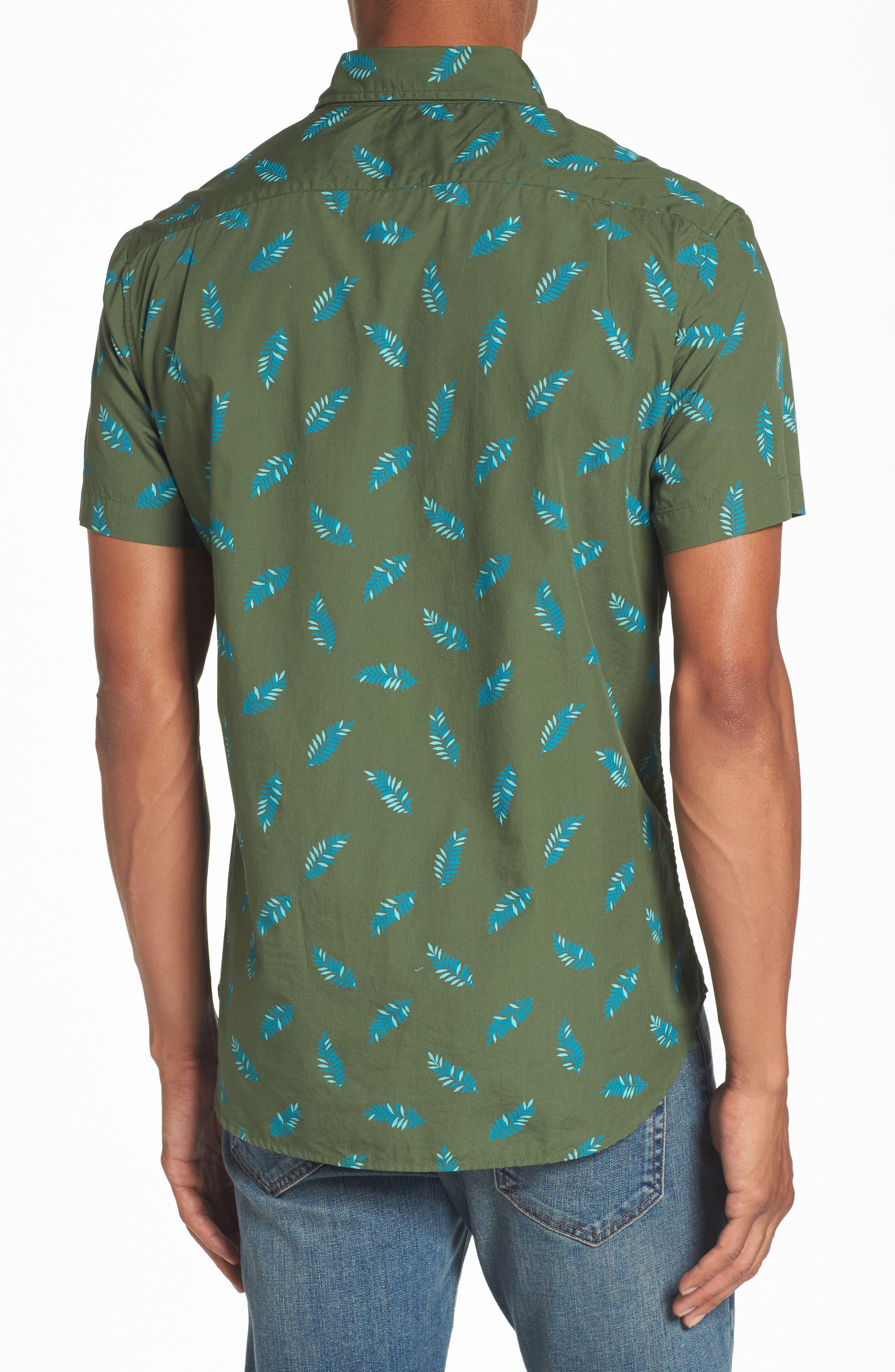 Riviera Fern Print Woven Shirt,                             Alternate thumbnail 2, color,                             300
