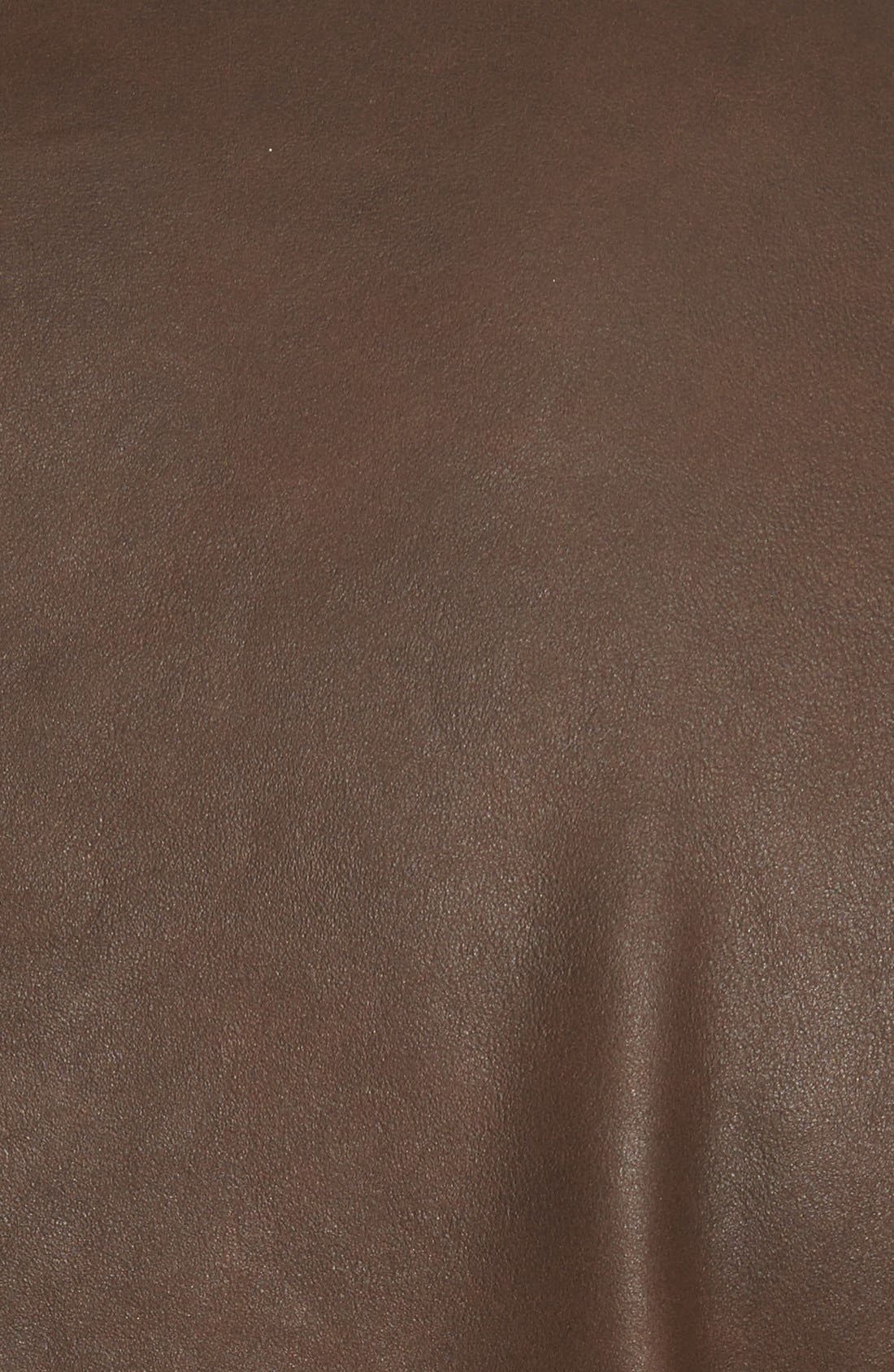 Unlined Leather Jacket,                             Alternate thumbnail 5, color,                             200