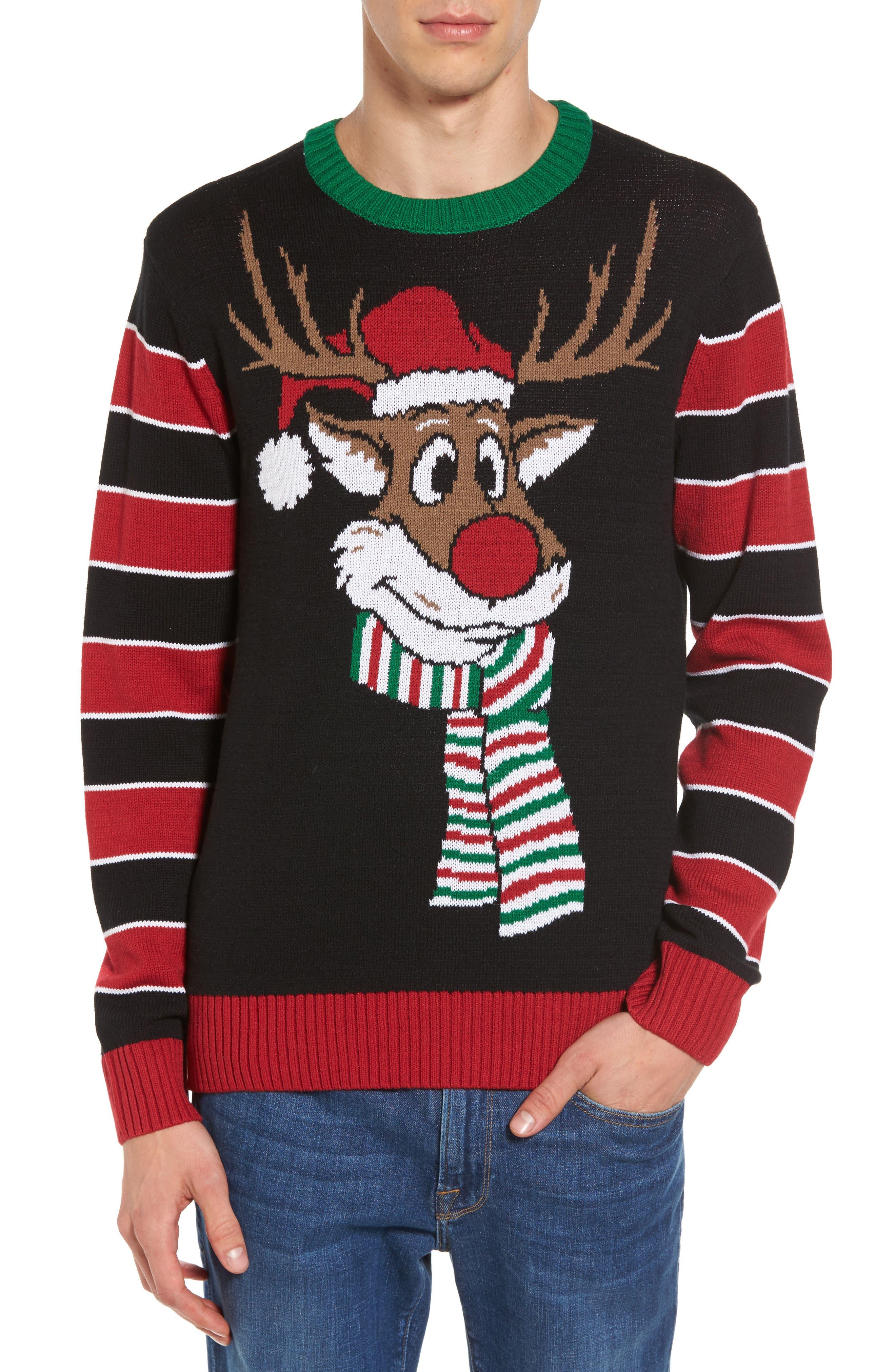 Reindeer Sweater,                             Main thumbnail 1, color,                             001