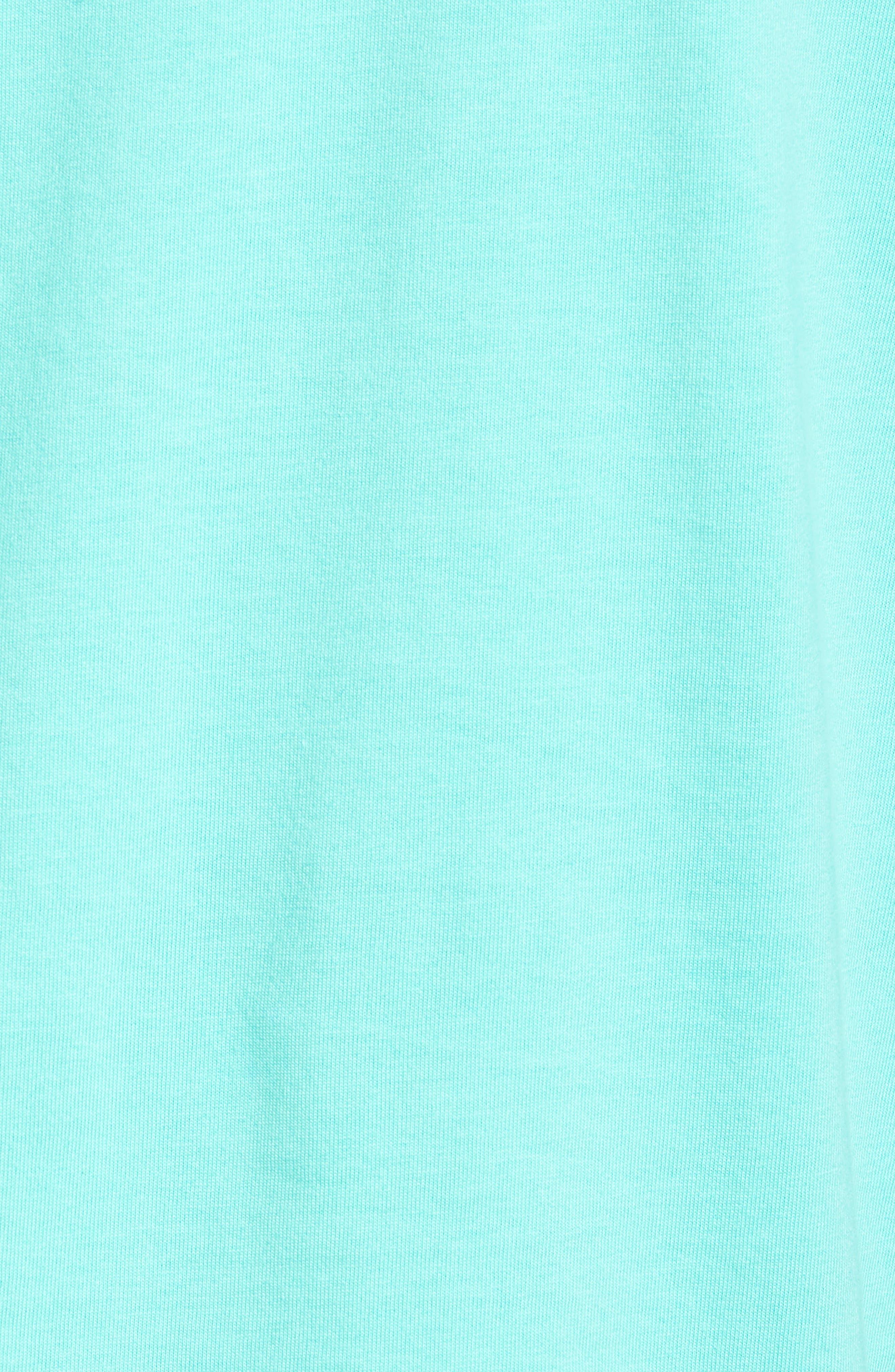 Fishing Rod Pocket T-Shirt,                             Alternate thumbnail 5, color,                             CAPRI BLUE