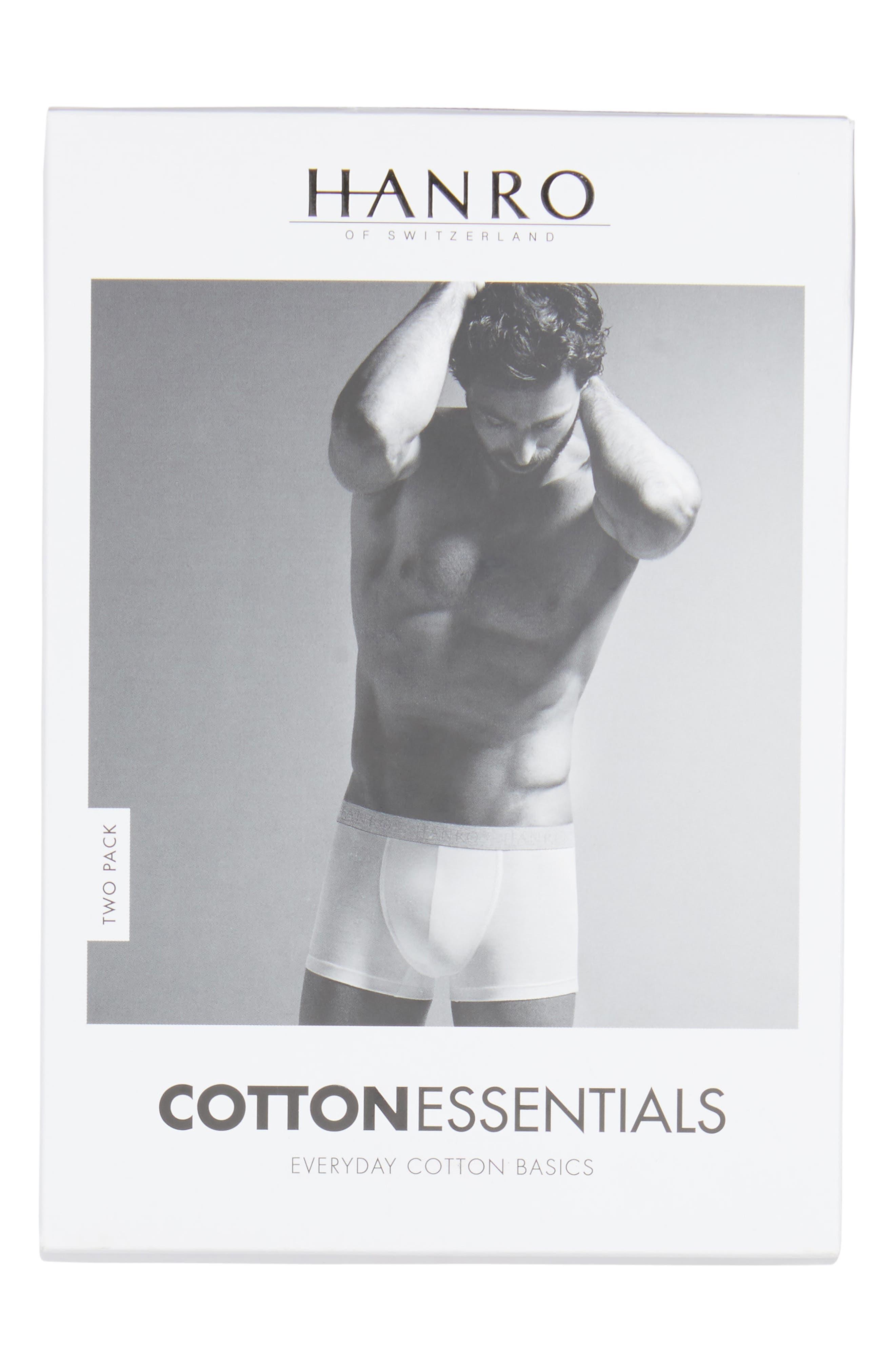 Cotton Essentials 2-Pack Boxer Briefs,                             Alternate thumbnail 5, color,                             BLACK