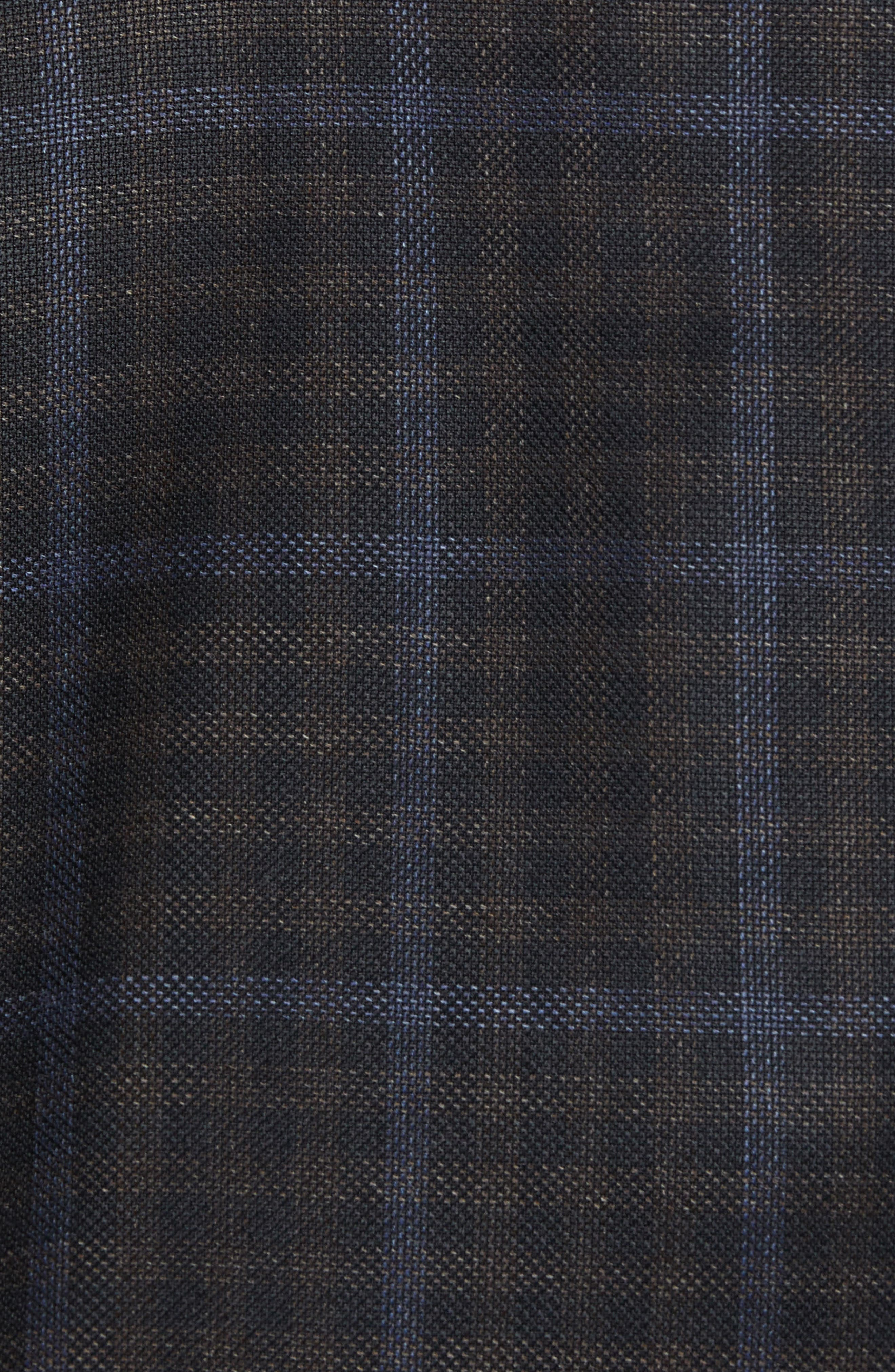 Classic Fit Check Wool Sport Coat,                             Alternate thumbnail 6, color,                             NAVY/ BROWN