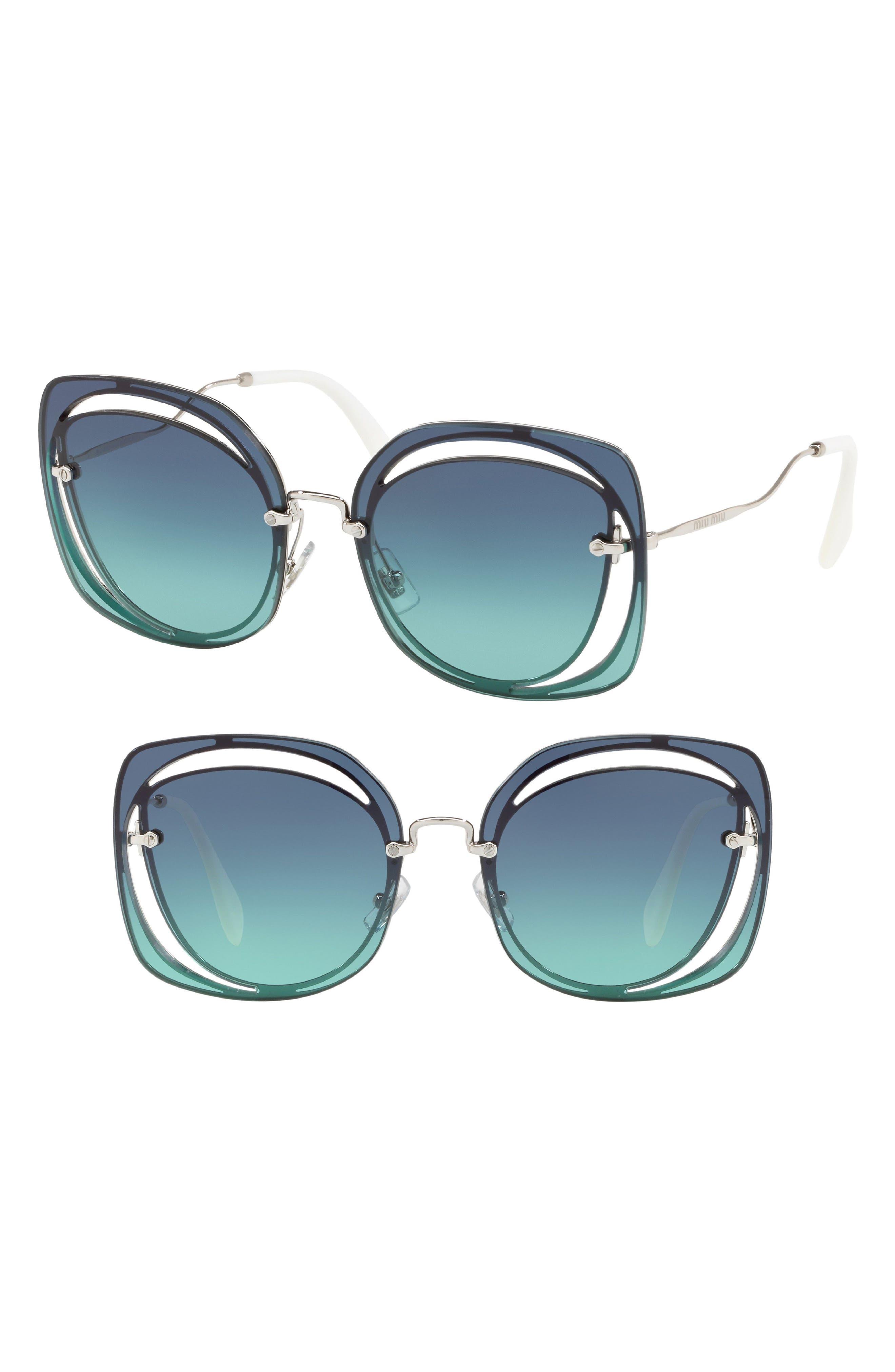 64mm Oversize Sunglasses,                             Main thumbnail 1, color,                             400