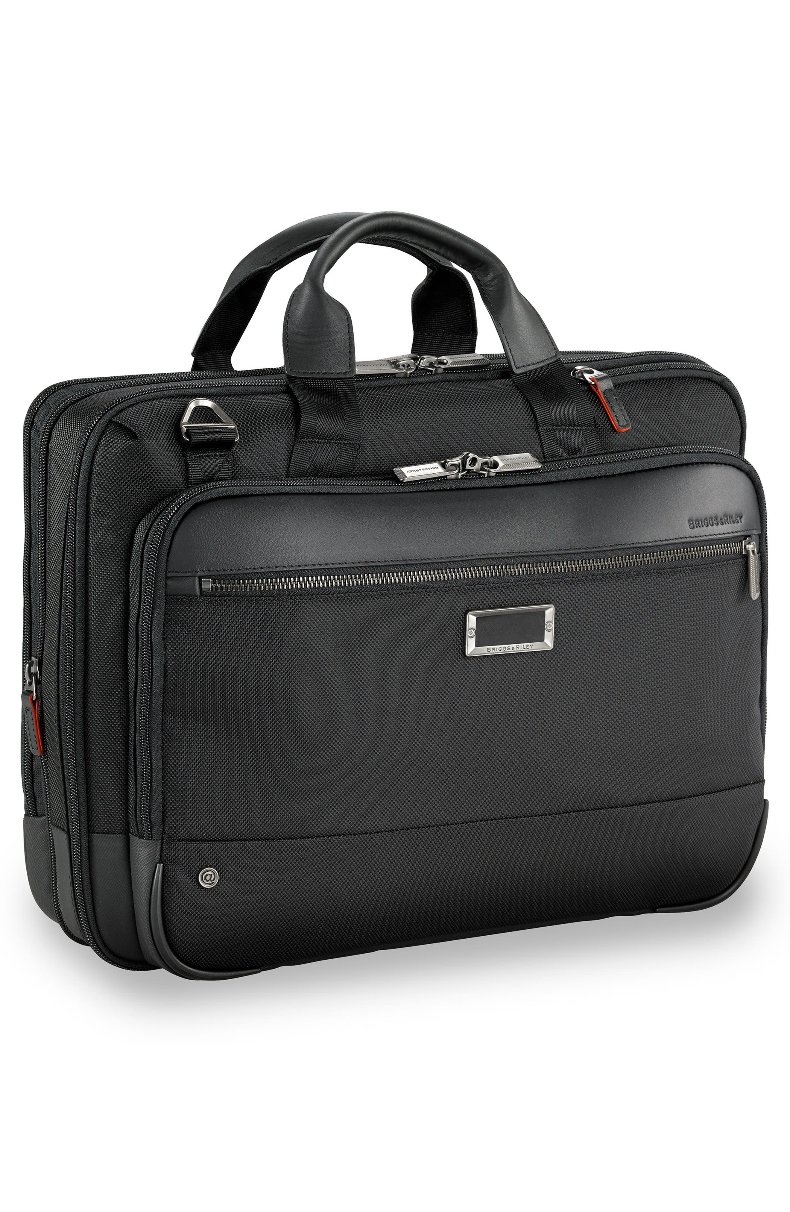 @work Expandable Briefcase,                             Alternate thumbnail 3, color,                             BLACK