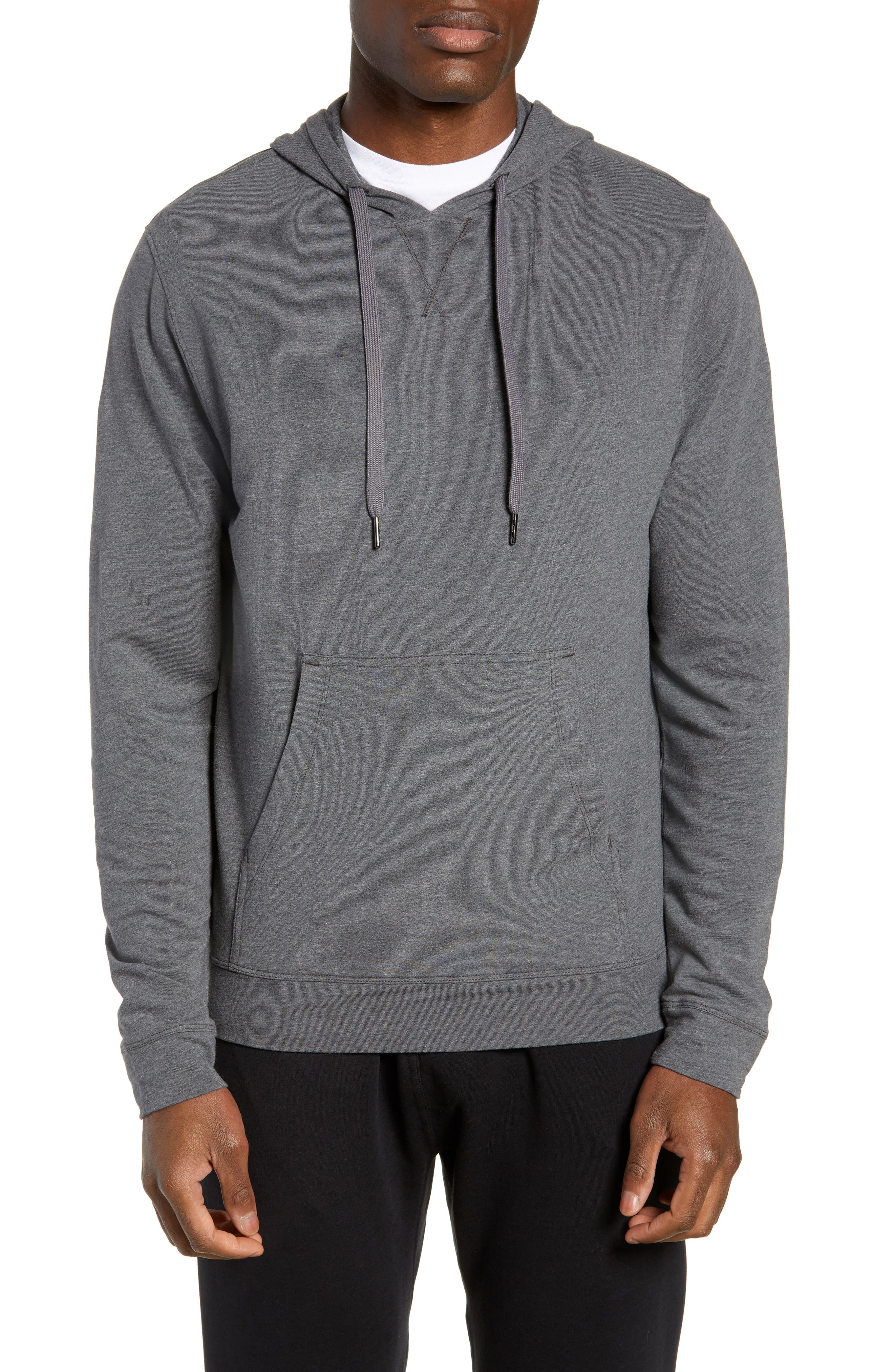Legacy Hooded Pullover,                         Main,                         color, BLACK