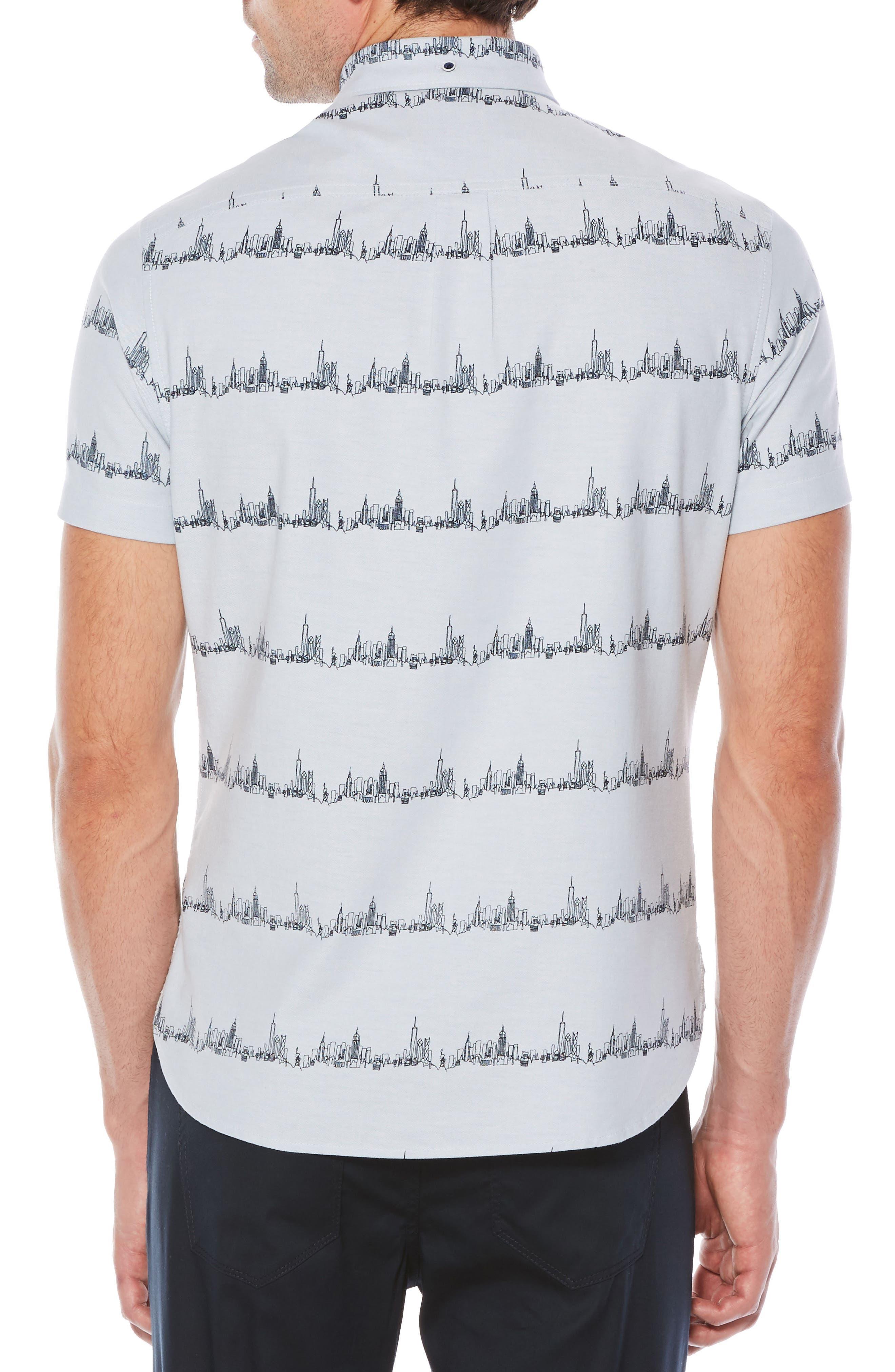 City Slim Fit Stripe Oxford Shirt,                             Alternate thumbnail 2, color,                             420