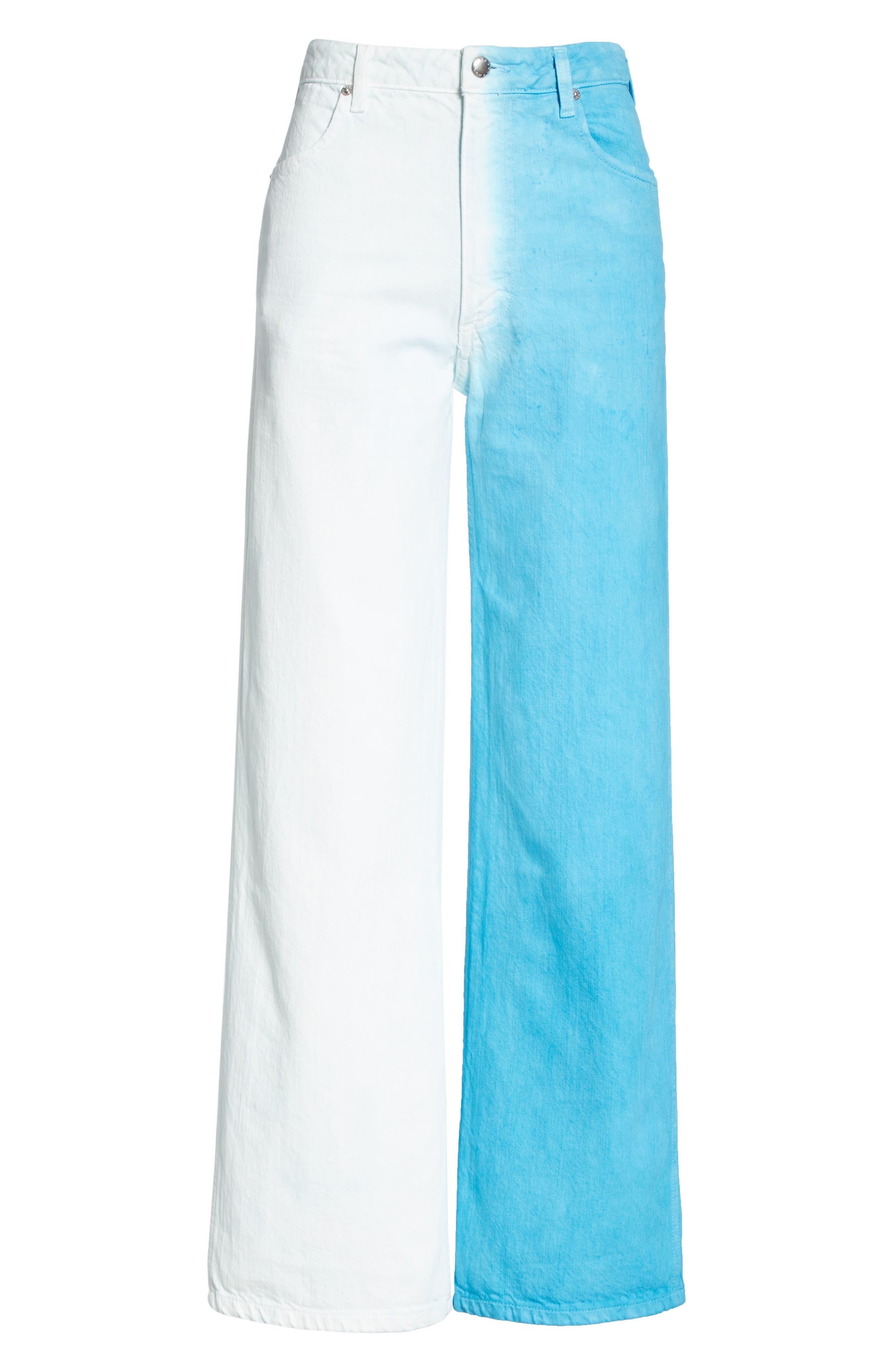 Wide Leg Jeans,                             Alternate thumbnail 6, color,                             DIRECTOIRE