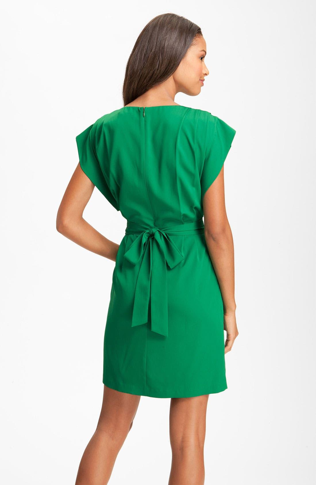 Drape Sleeve Sash Belt Dress,                             Alternate thumbnail 2, color,                             310
