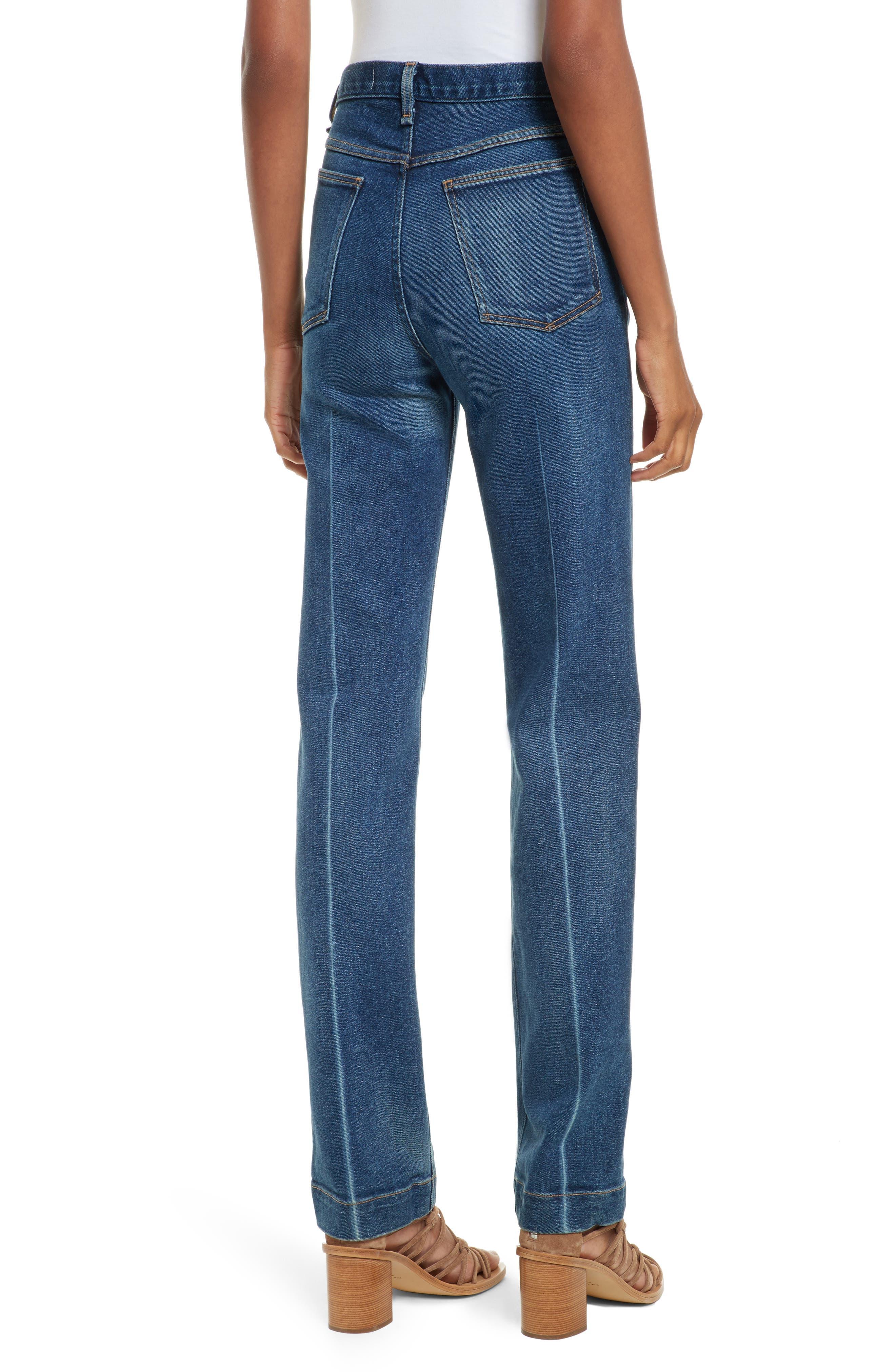 Justine High Waist Trouser Jeans,                             Alternate thumbnail 2, color,                             462