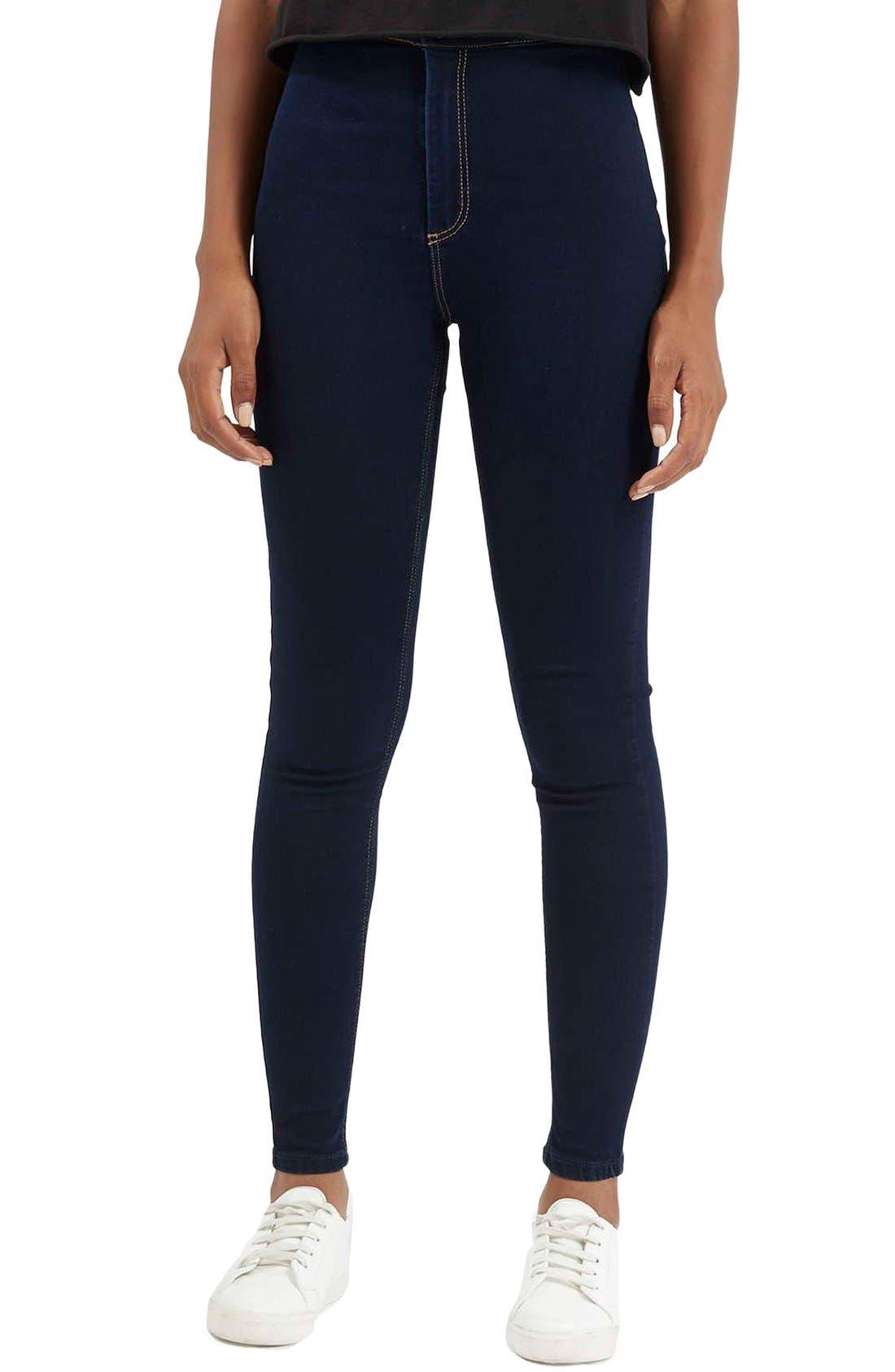 Moto 'Joni' Super Skinny Jeans,                             Main thumbnail 1, color,