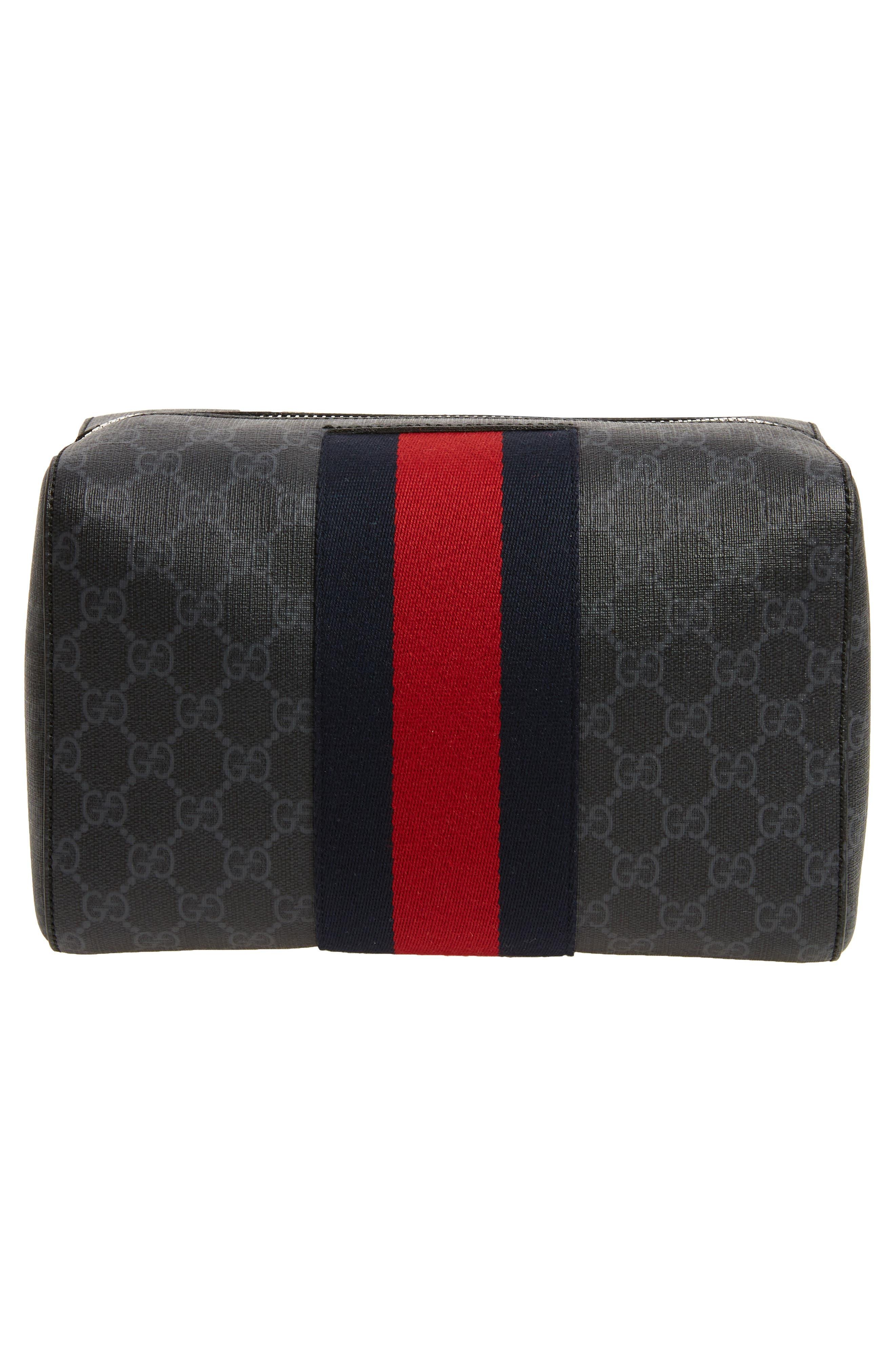 GG Supreme Hand Duffel Bag,                             Alternate thumbnail 2, color,                             001