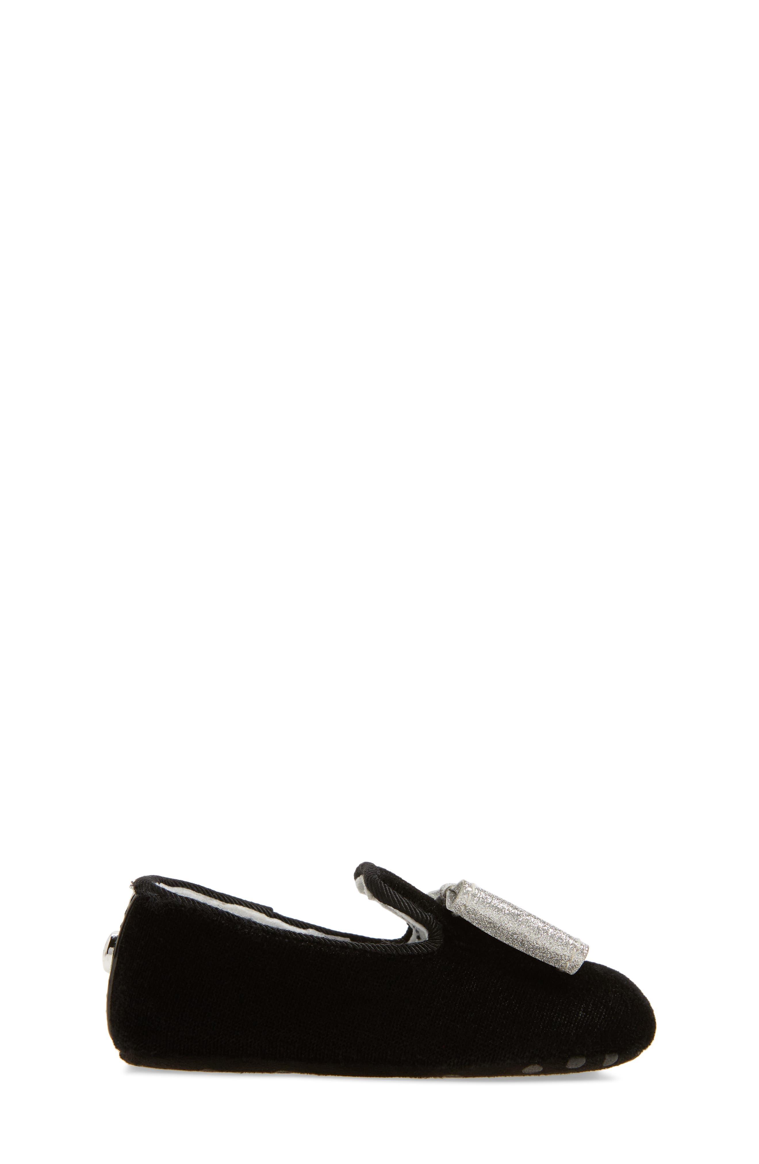 Bow Loafer Crib Shoe,                             Alternate thumbnail 3, color,                             012