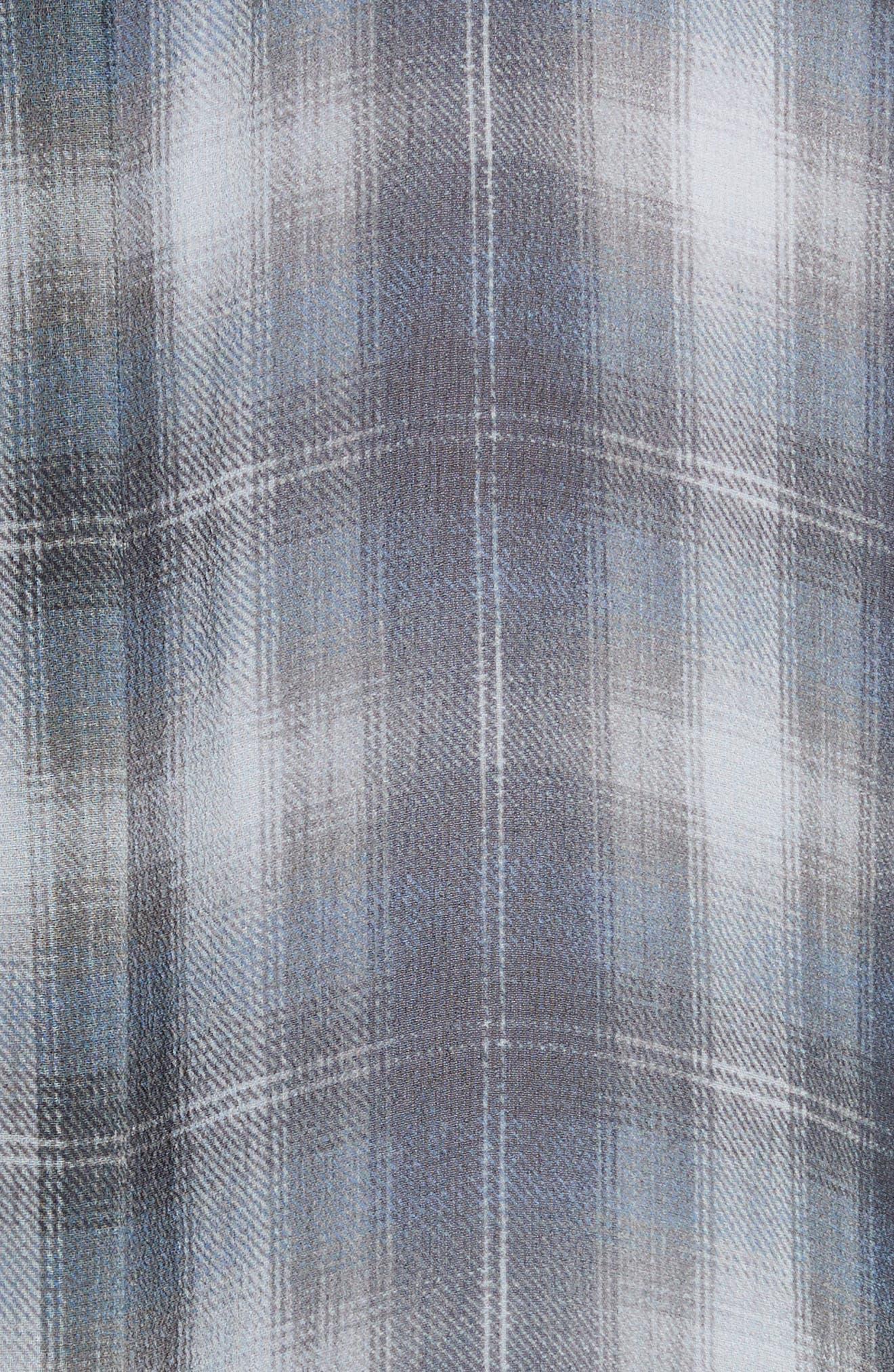 Shadow Plaid Silk Blouse,                             Alternate thumbnail 5, color,