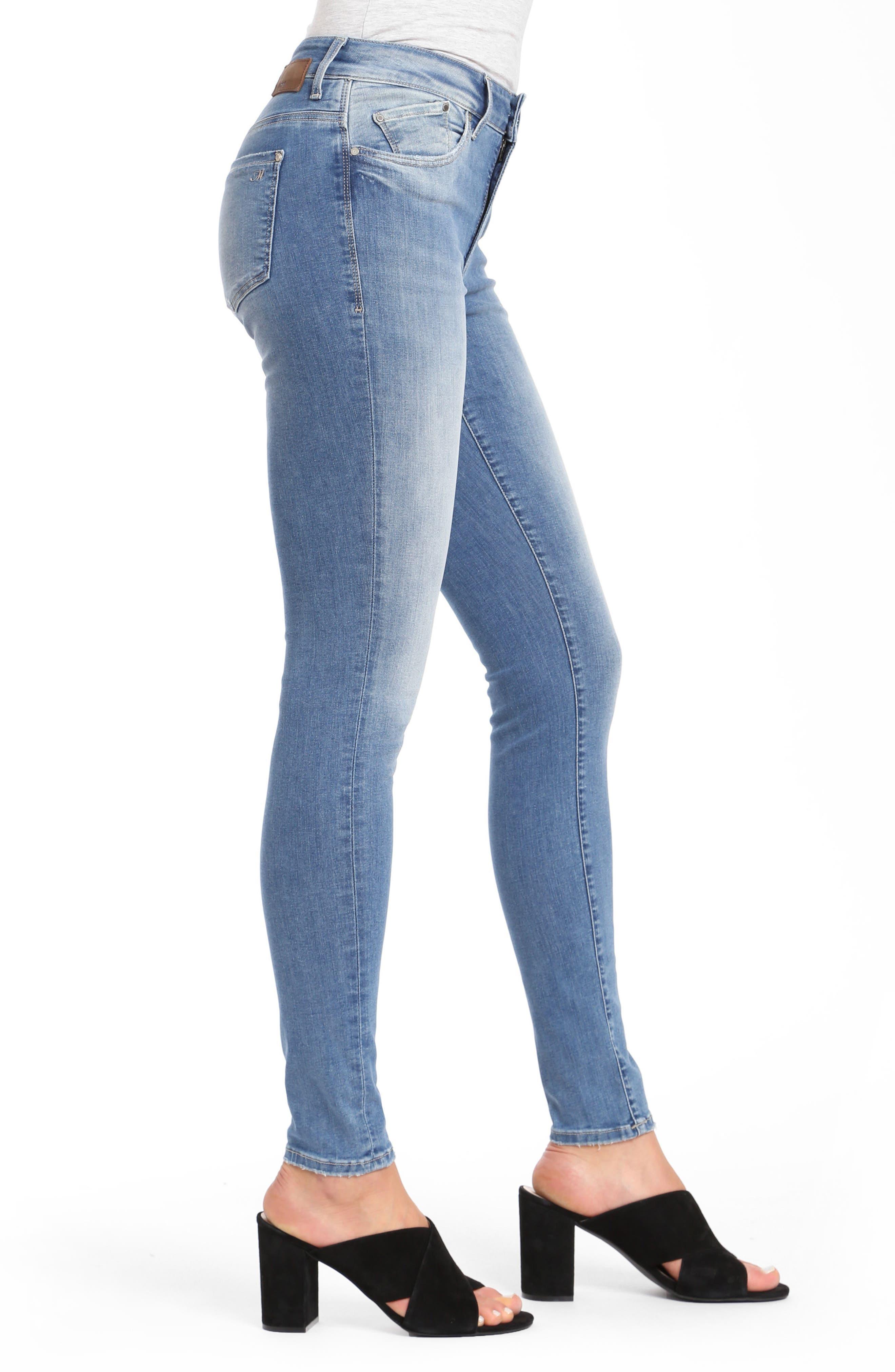 Mavi Alissa Super Skinny Jeans,                             Alternate thumbnail 3, color,                             INDIGO SHADED NOLITA