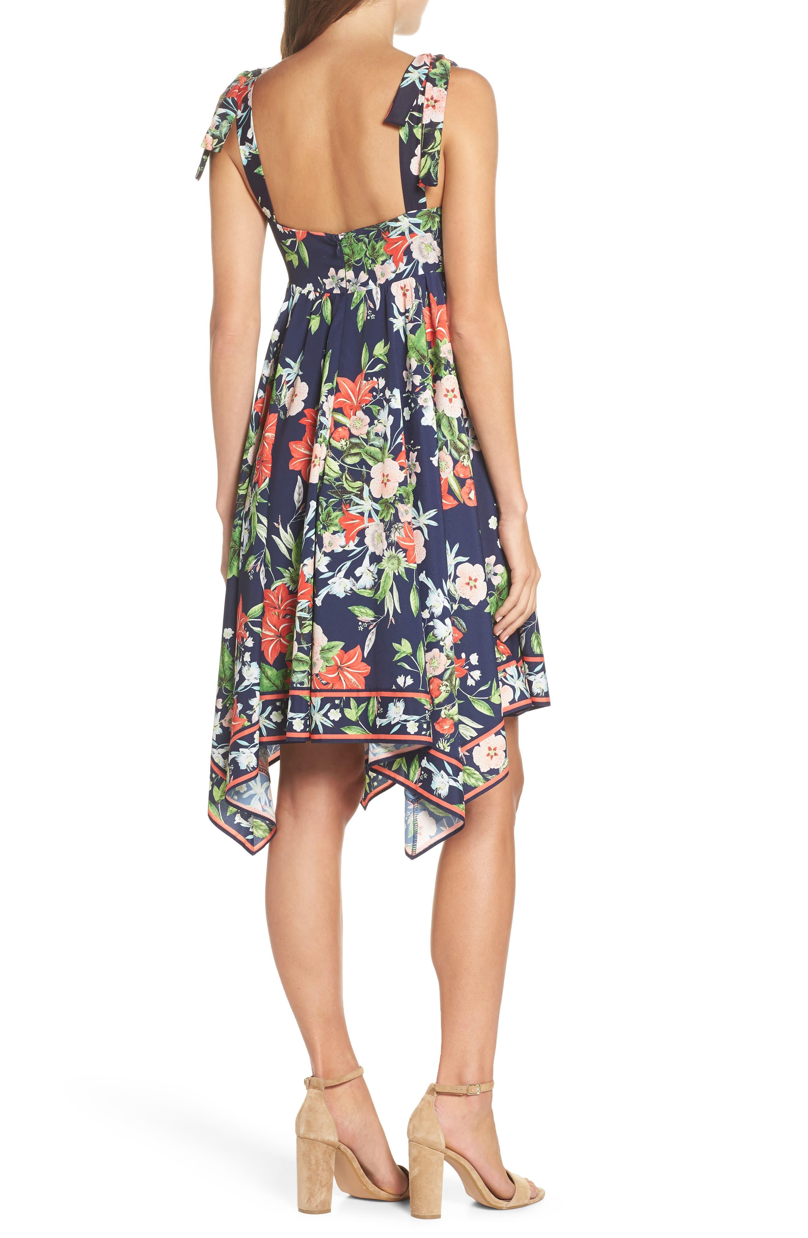ELIZA J,                             Tie Strap Handkerchief Hem Dress,                             Alternate thumbnail 2, color,                             410
