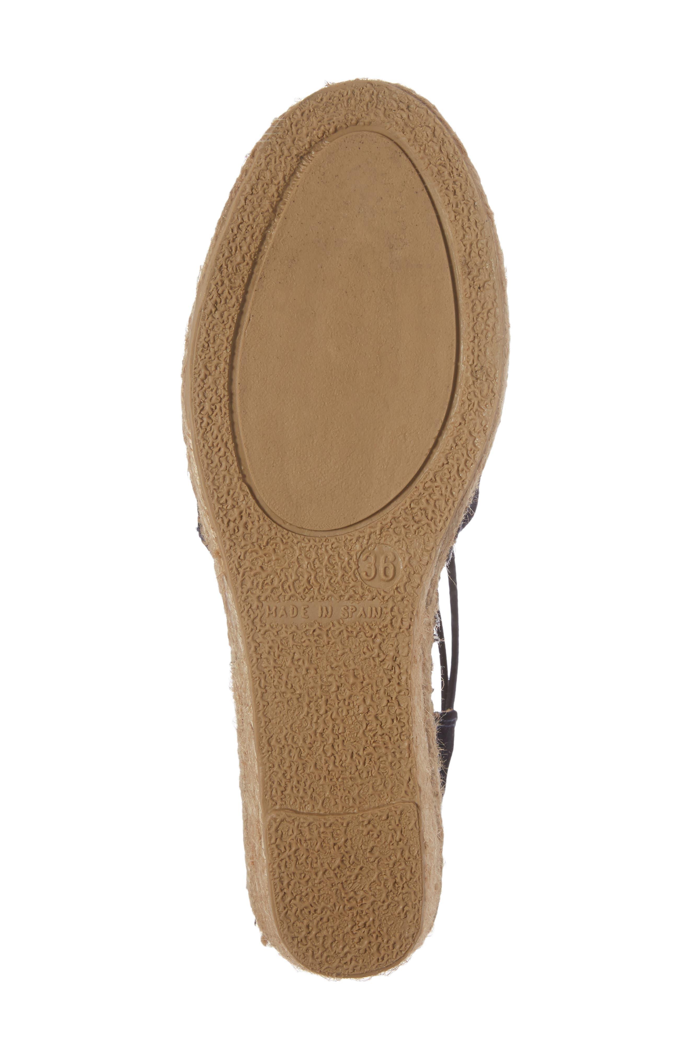 'Tremp' Slingback Espadrille Sandal,                             Alternate thumbnail 6, color,                             NAVY SUEDE