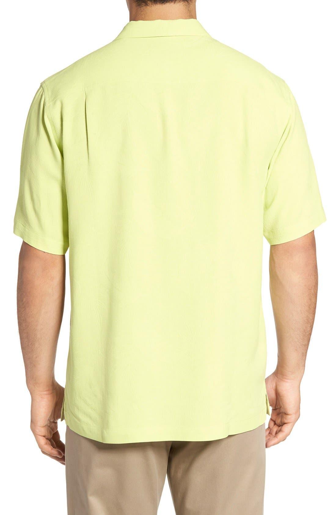 Rio Fronds Short Sleeve Silk Sport Shirt,                             Alternate thumbnail 91, color,