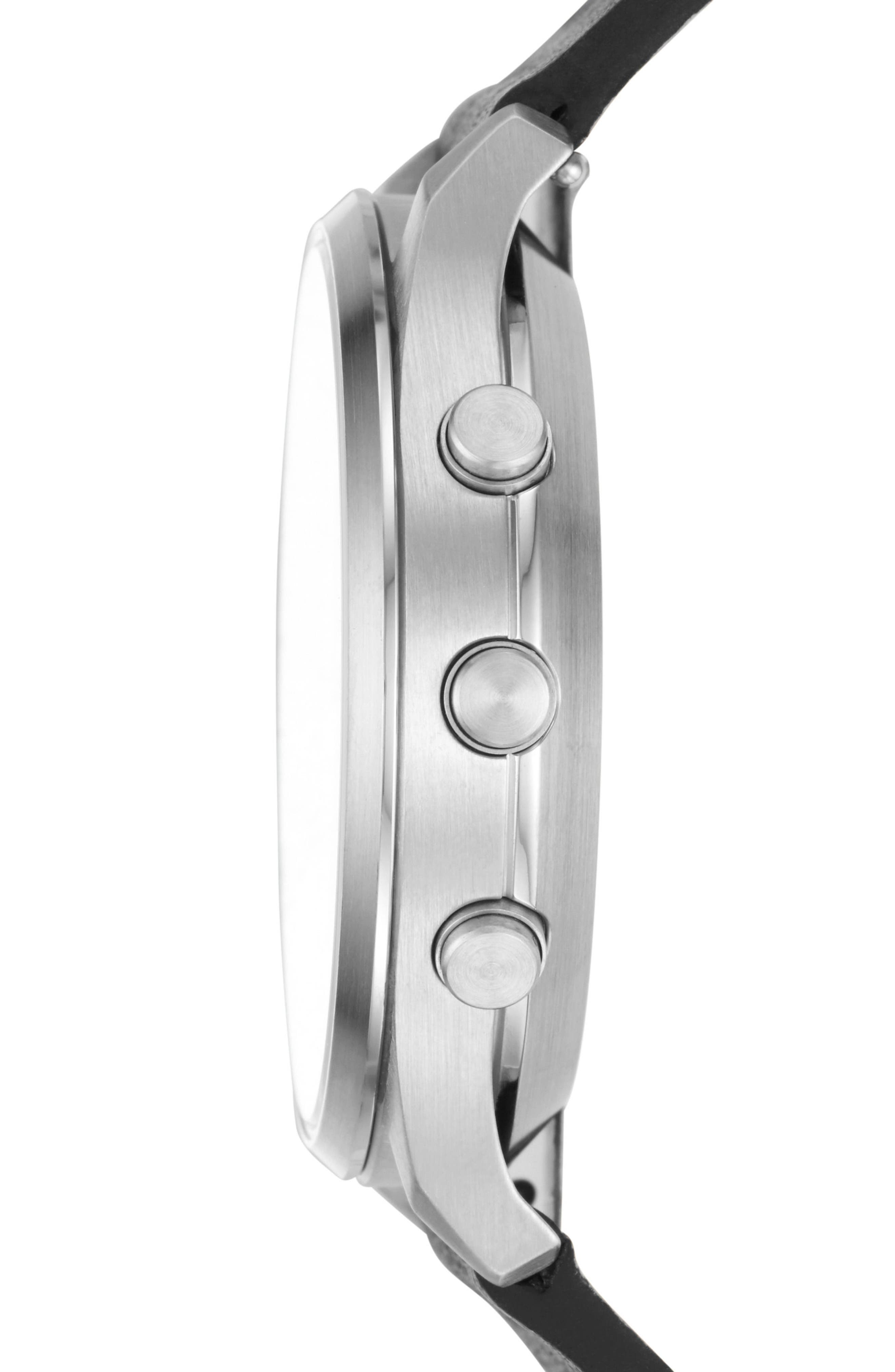 Jorn Hybrid Leather Strap Smart Watch, 41mm,                             Alternate thumbnail 2, color,                             010