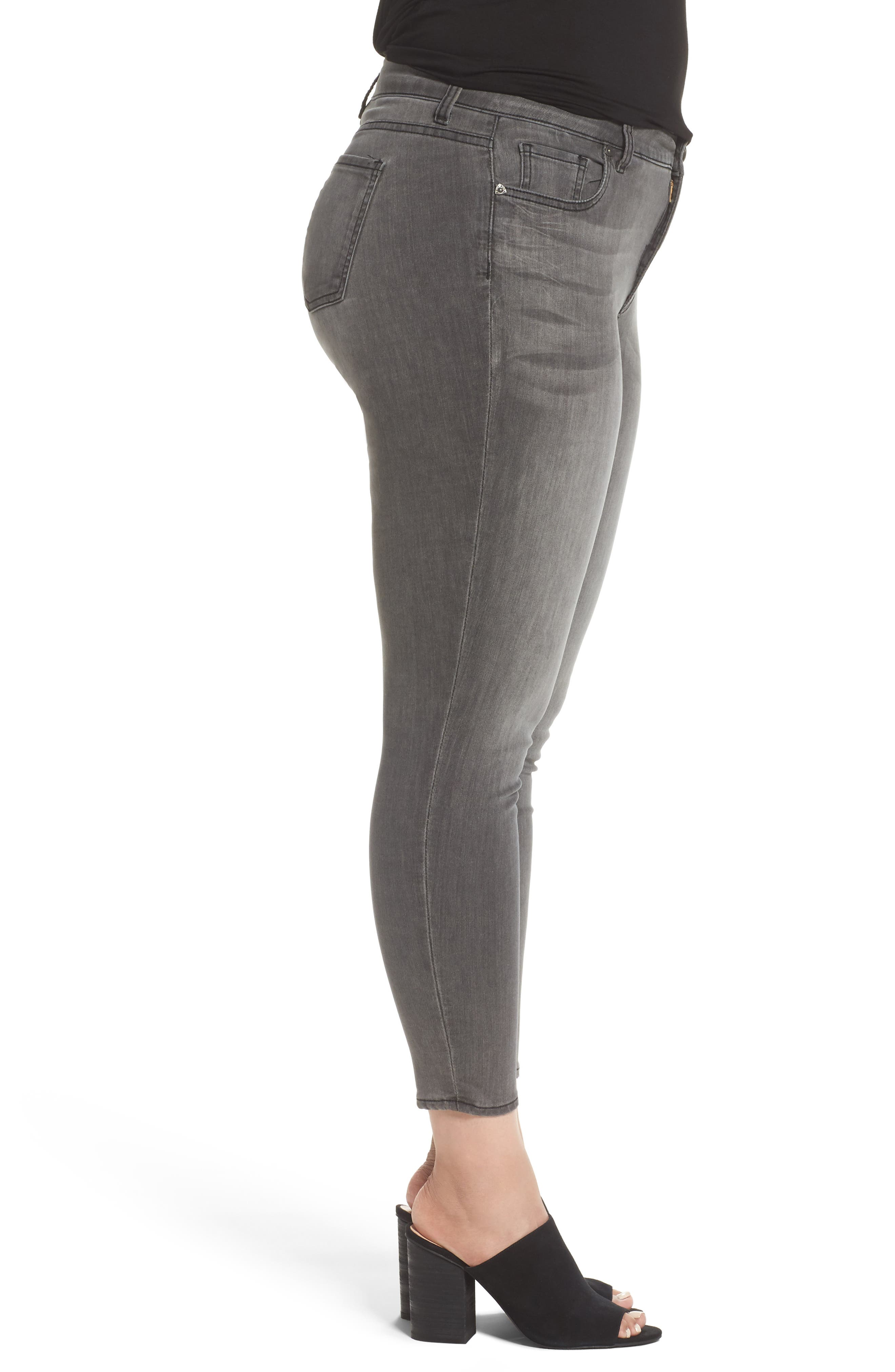 Donna High Waist Skinny Jeans,                             Alternate thumbnail 3, color,                             MERITORIOUS W/ G