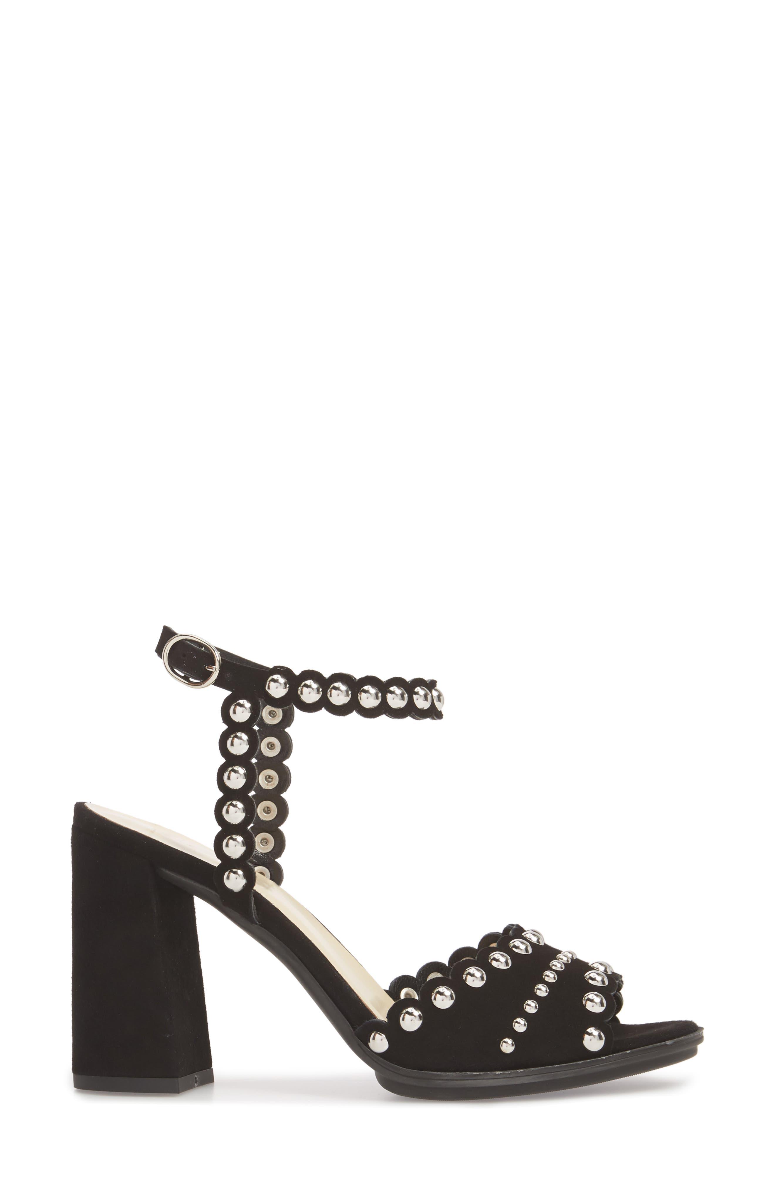 Butter Hetty Studded Ankle Strap Sandal,                             Alternate thumbnail 3, color,                             001