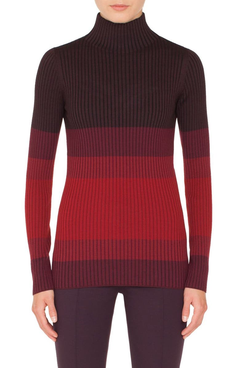 Akris punto Tricolor Wool Turtleneck Sweater | Nordstrom