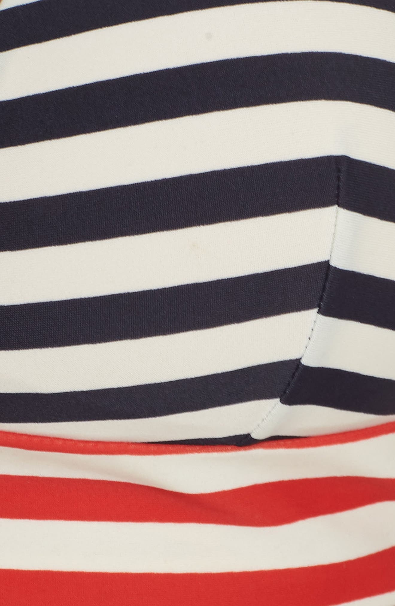 Stripe Banded T-Back Bikini Top,                             Alternate thumbnail 9, color,                             NAVY VIVID FLAME