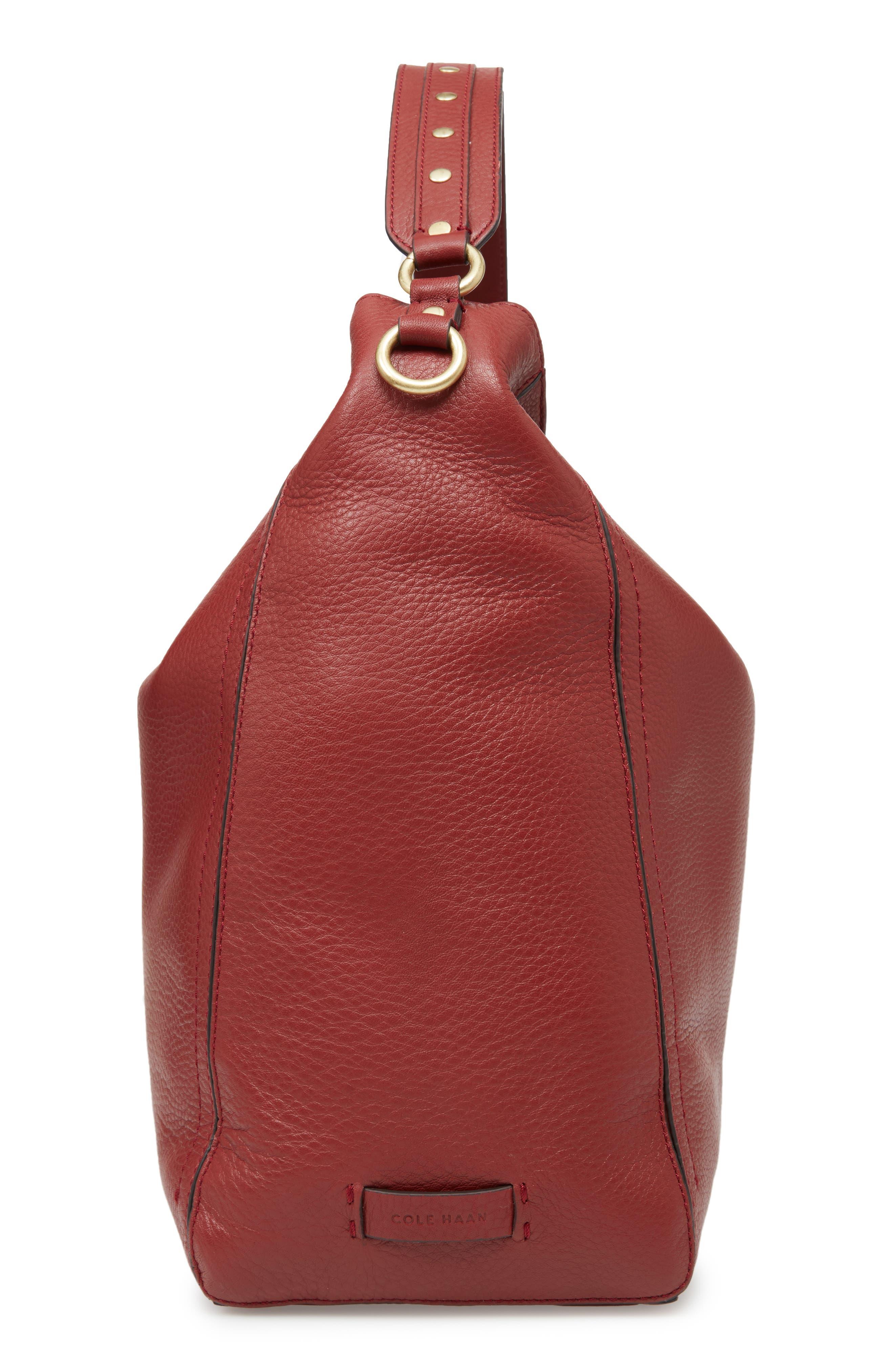 Cassidy RFID Pebbled Leather Bucket Bag,                             Alternate thumbnail 18, color,