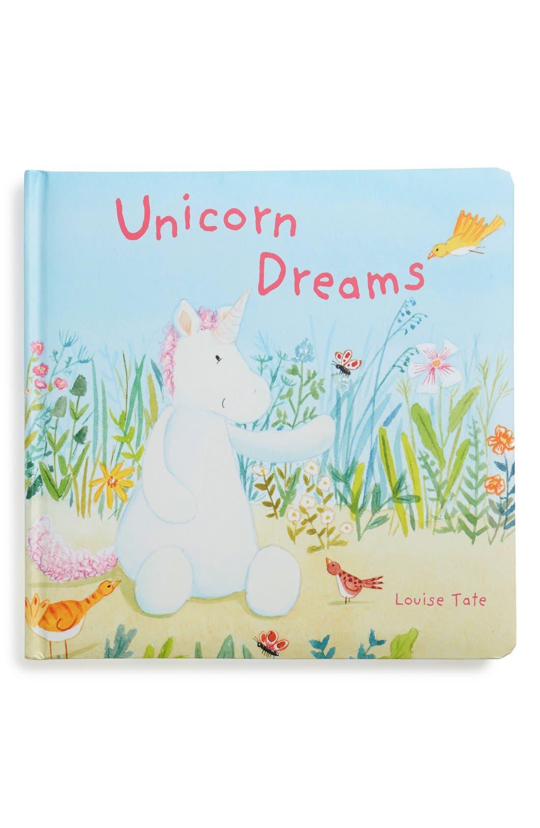 'Unicorn Dreams' Board Book,                             Main thumbnail 1, color,                             WHITE