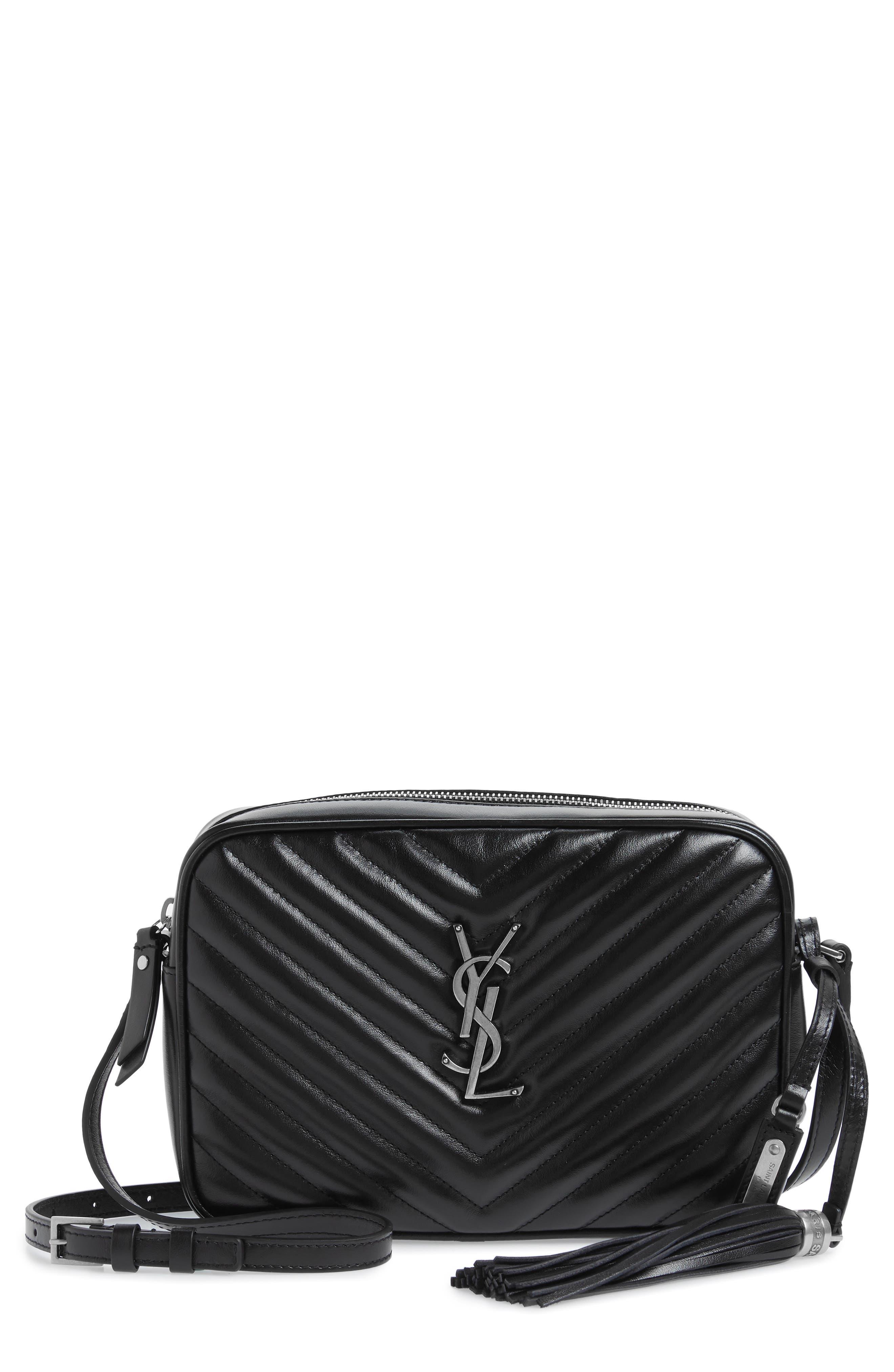 Medium Lou Calfskin Leather Camera Bag,                             Main thumbnail 1, color,                             001