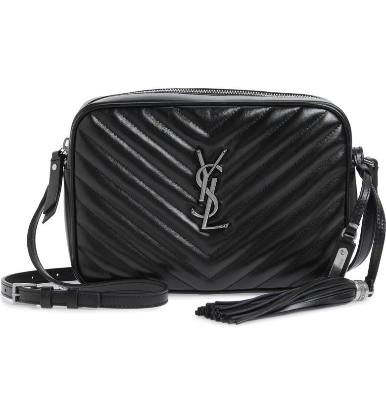 e671ab513274 Saint Laurent Medium Lou Calfskin Leather Camera Bag