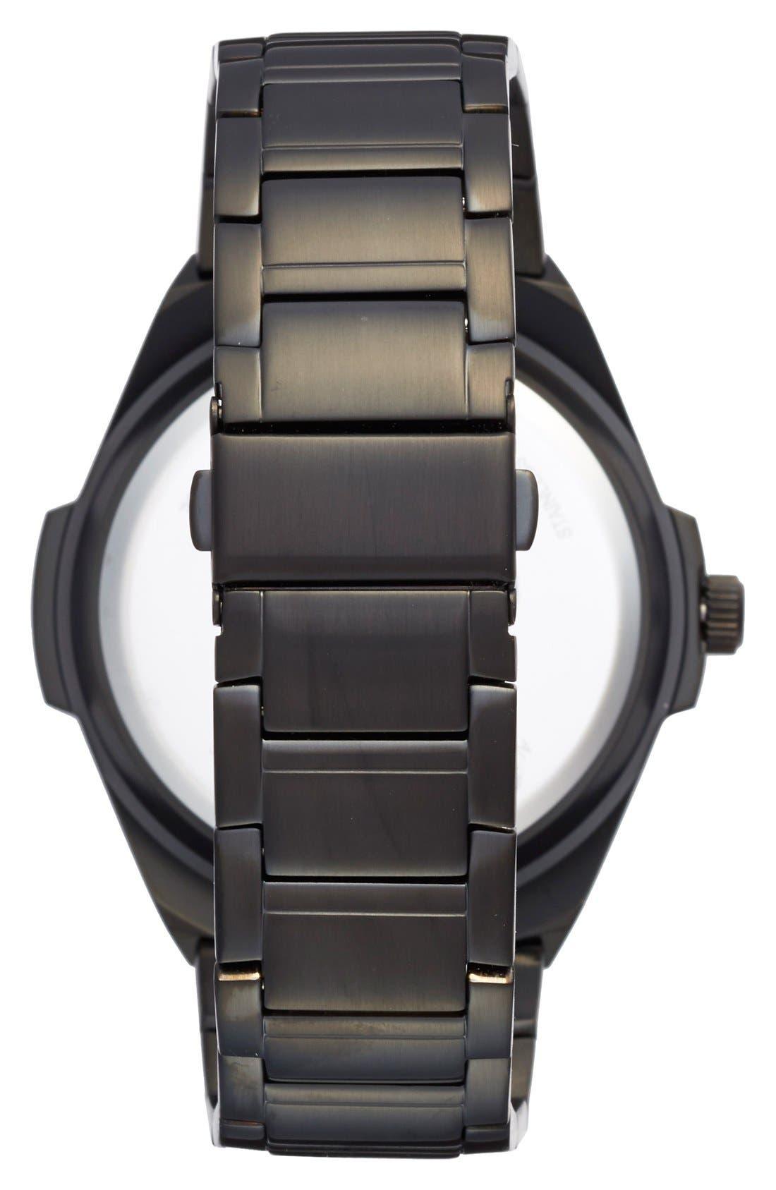 'NFL Gladiator - New England Patriots' Bracelet Watch, 49mm,                             Alternate thumbnail 2, color,                             001