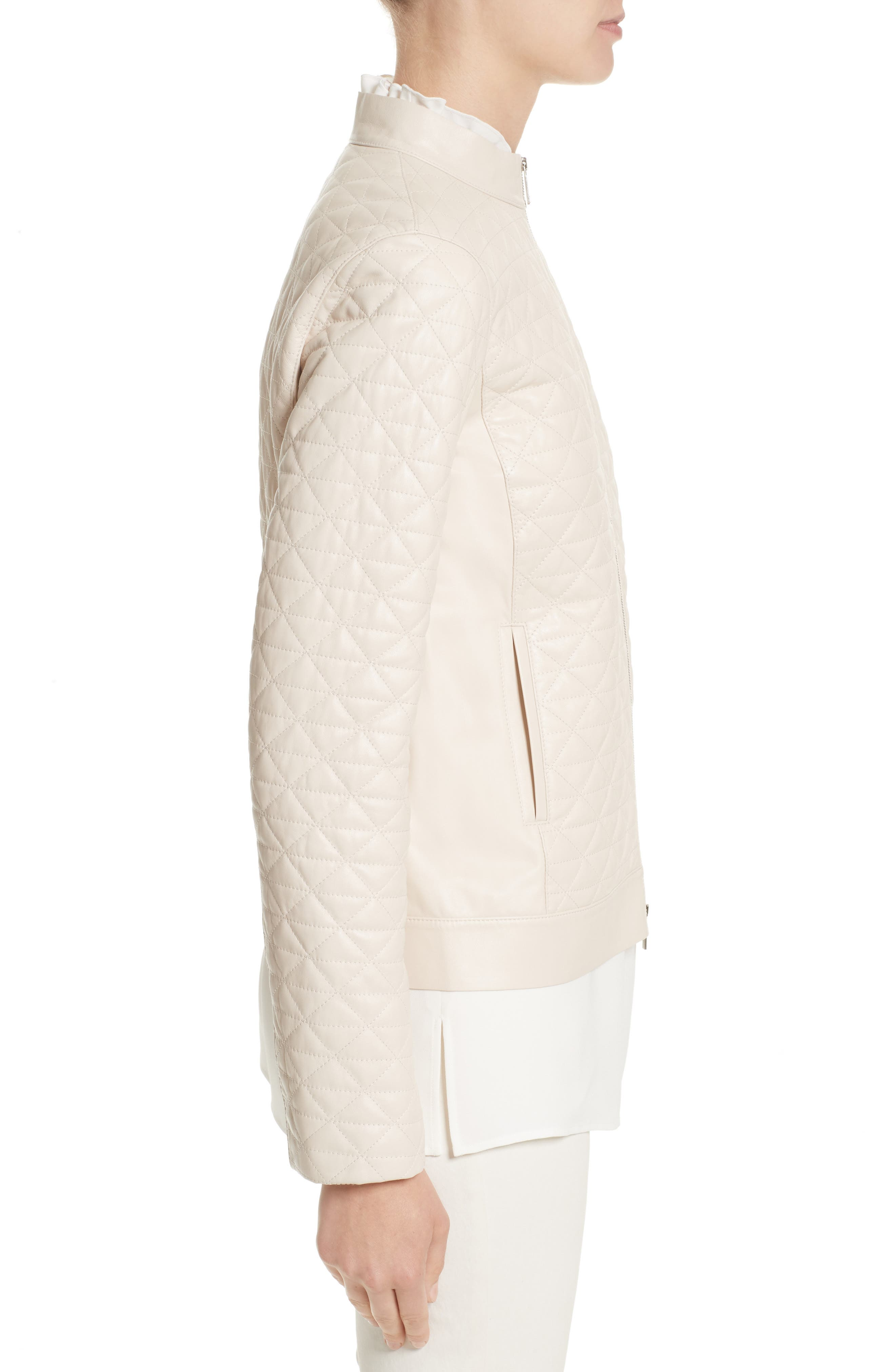 Becks Quilted Lambskin Leather Moto Jacket,                             Alternate thumbnail 6, color,