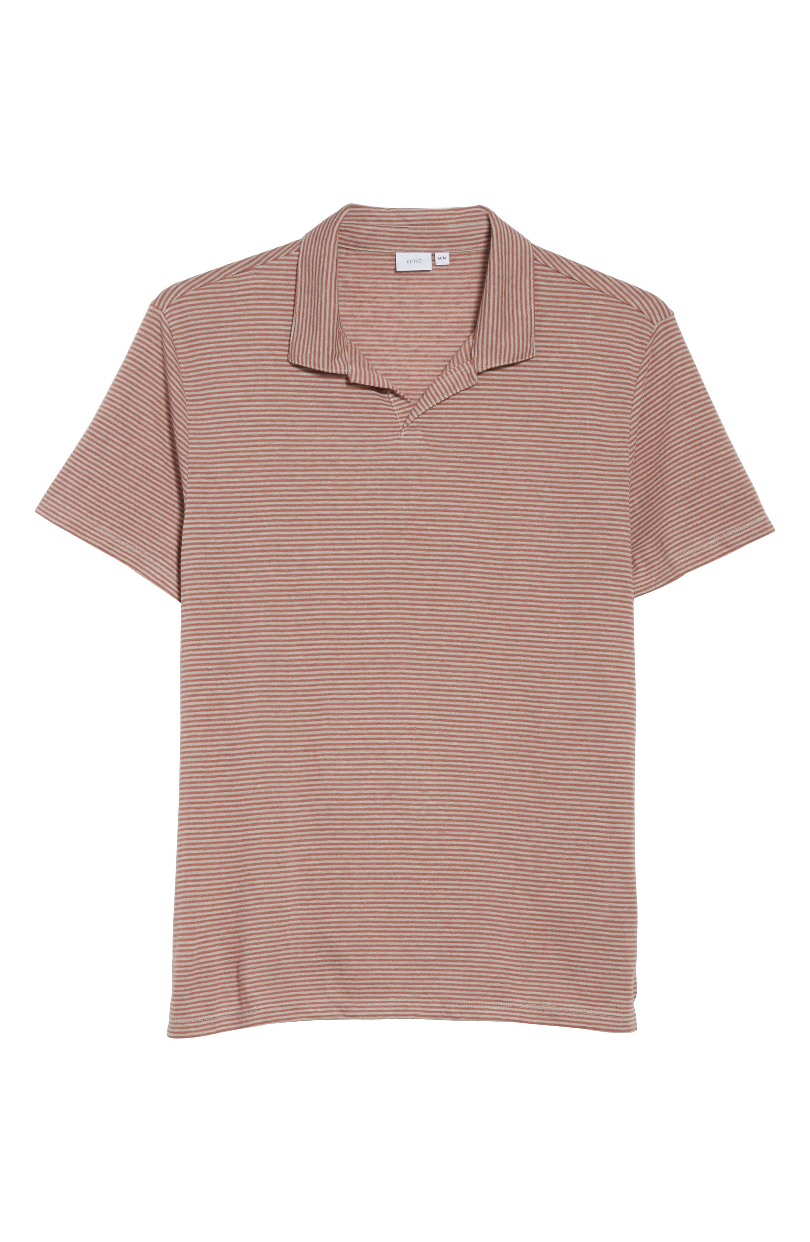 Shaun Linen Blend Polo,                             Alternate thumbnail 6, color,                             651