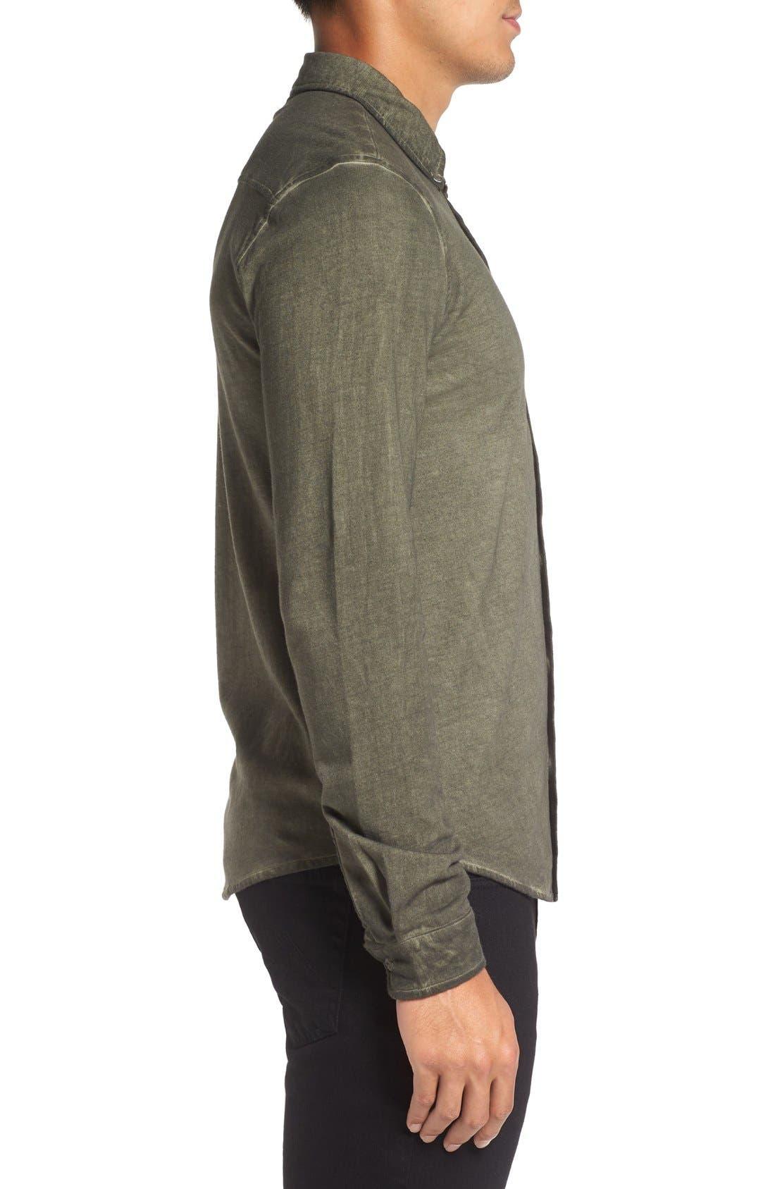 Slim Fit Garment Washed Sport Shirt,                             Alternate thumbnail 9, color,