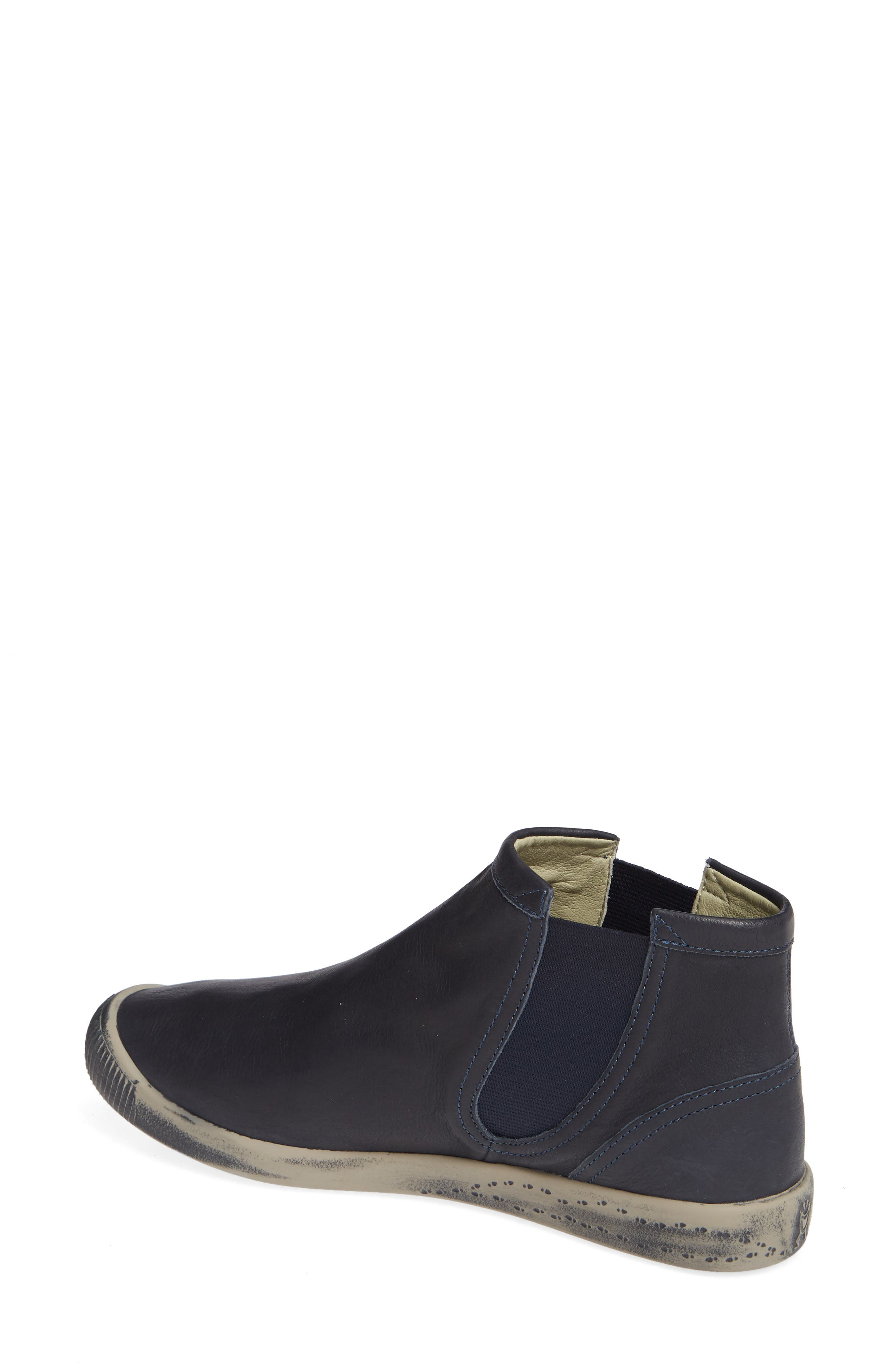 SOFTINOS BY FLY LONDON,                             Ici Sneaker,                             Alternate thumbnail 2, color,                             NAVY SMOOTH LEATHER