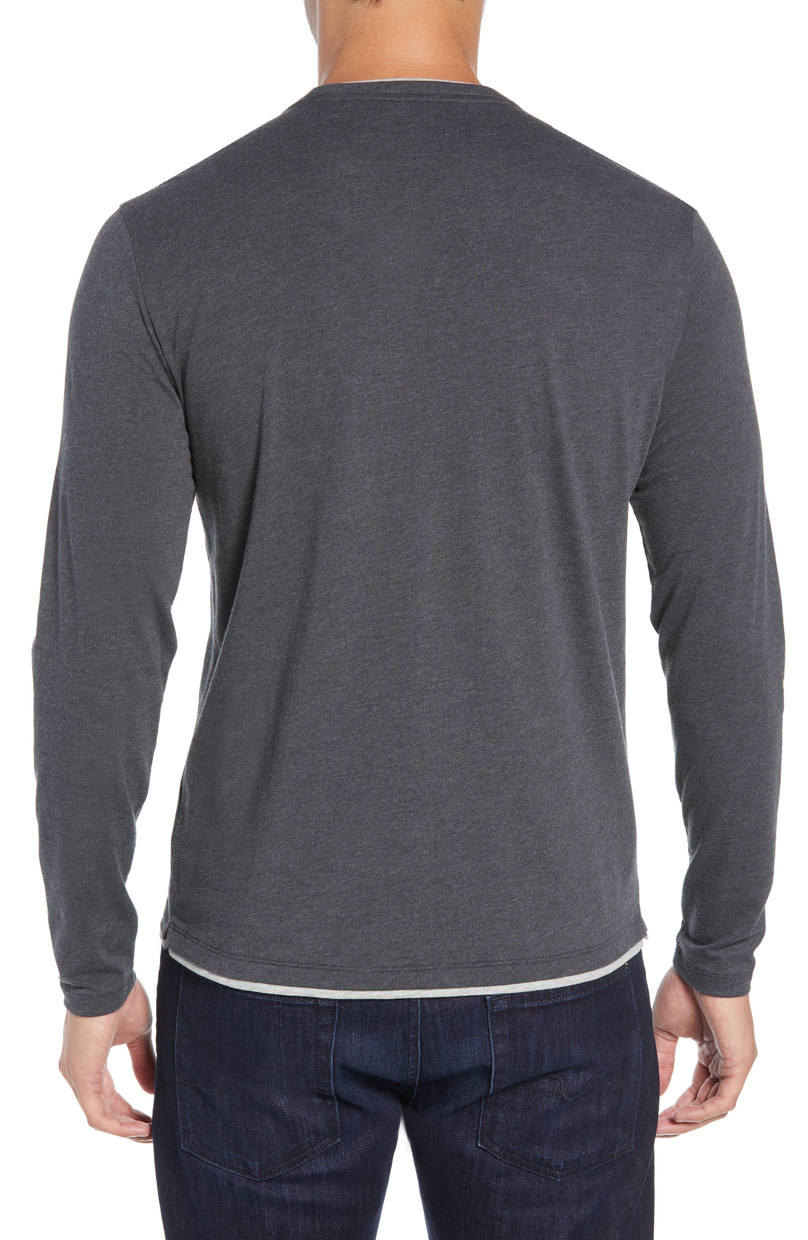 Halifax Long Sleeve Crewneck T-Shirt,                             Alternate thumbnail 2, color,                             TITANIUM