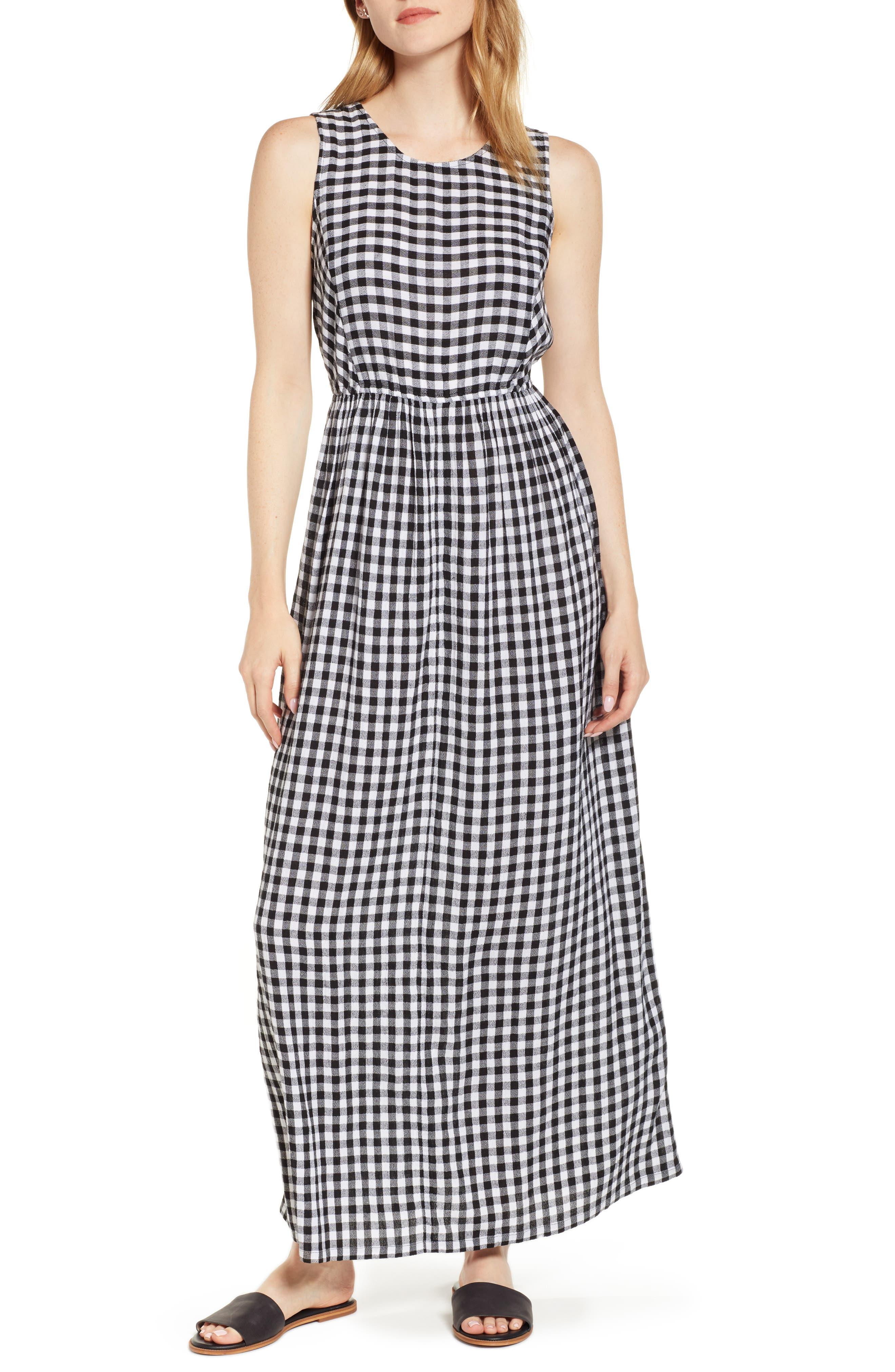 Smocked Back Maxi Dress,                             Main thumbnail 1, color,                             002
