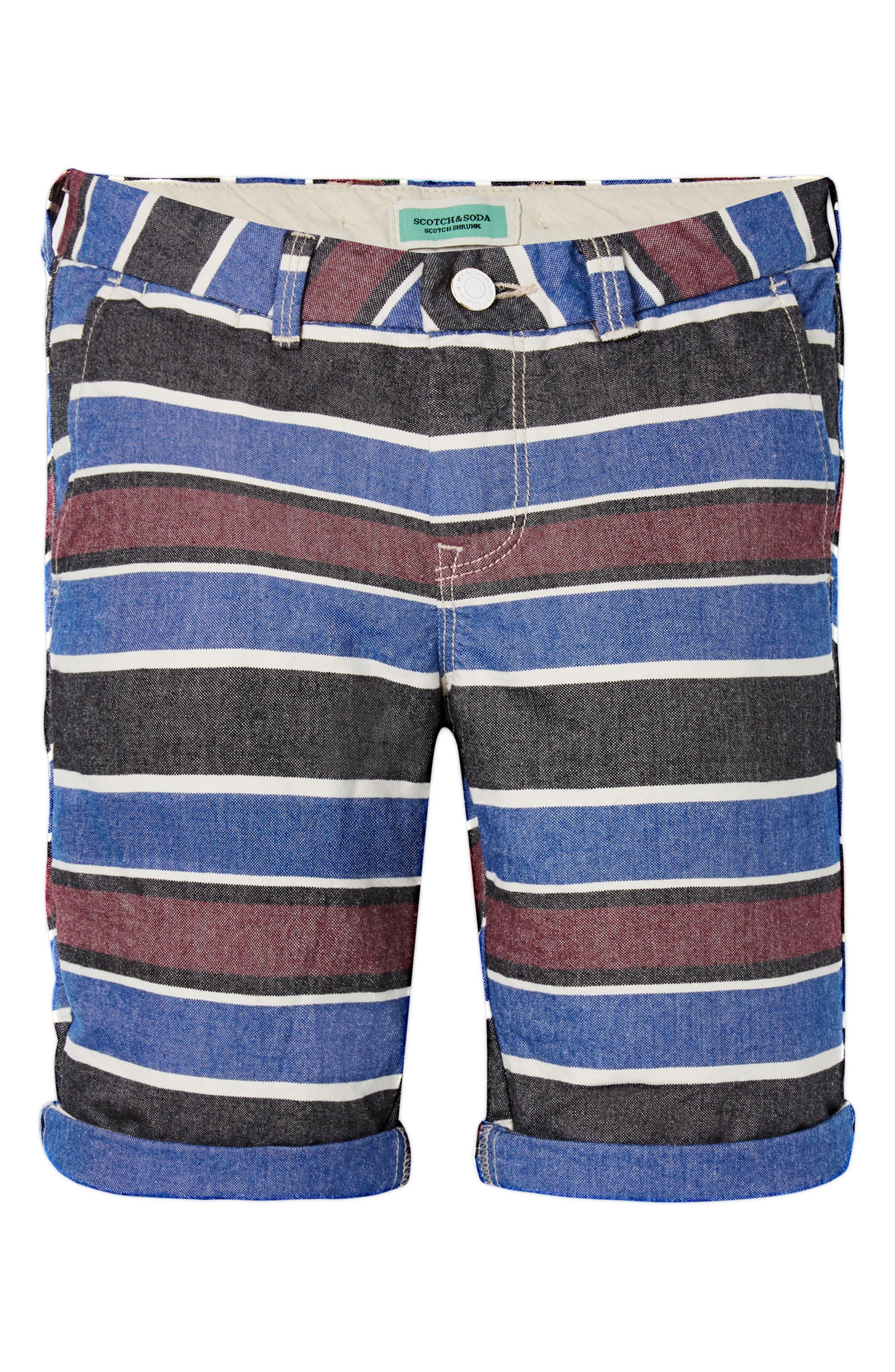 Stripe Chino Shorts,                             Alternate thumbnail 3, color,                             400